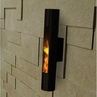 Decorpro Lumin Sconce Wall Mounted Bio-Ethanol Fireplace ...