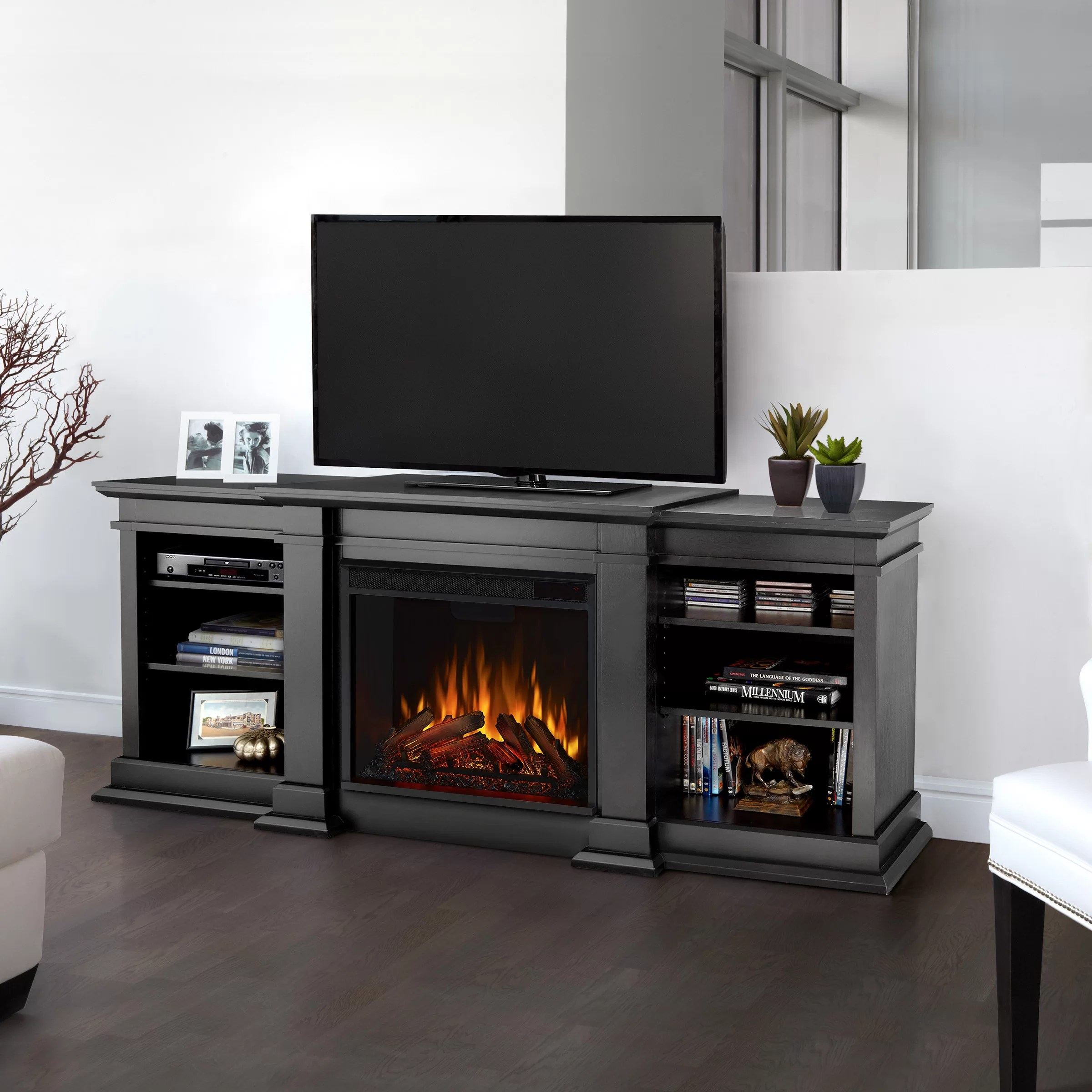Real Flame Fresno Tv Stand For Tvs Up To 78