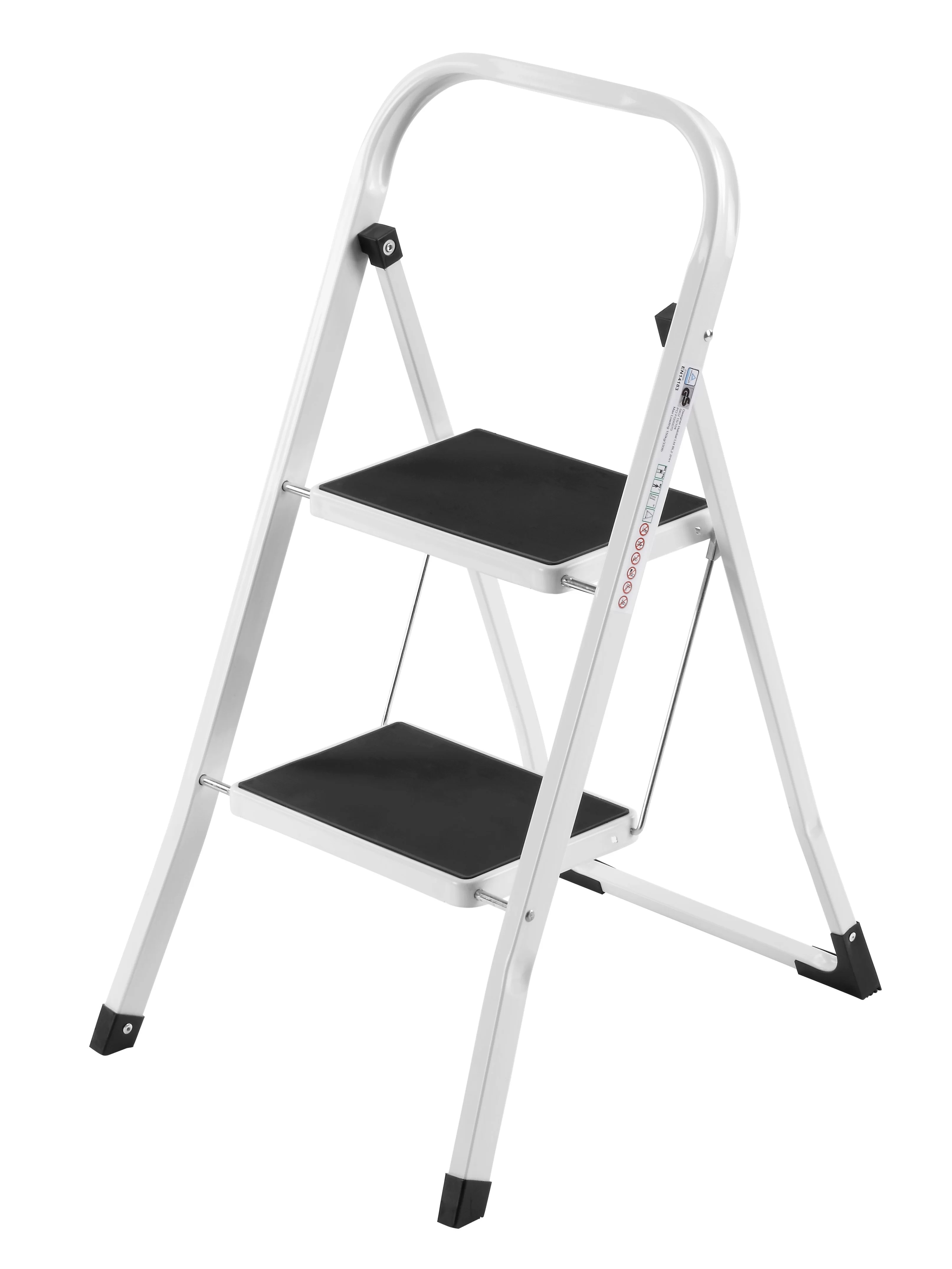 Metal Step Stool 2 Step Steel Step Stool With 330 Lb Load Capacity