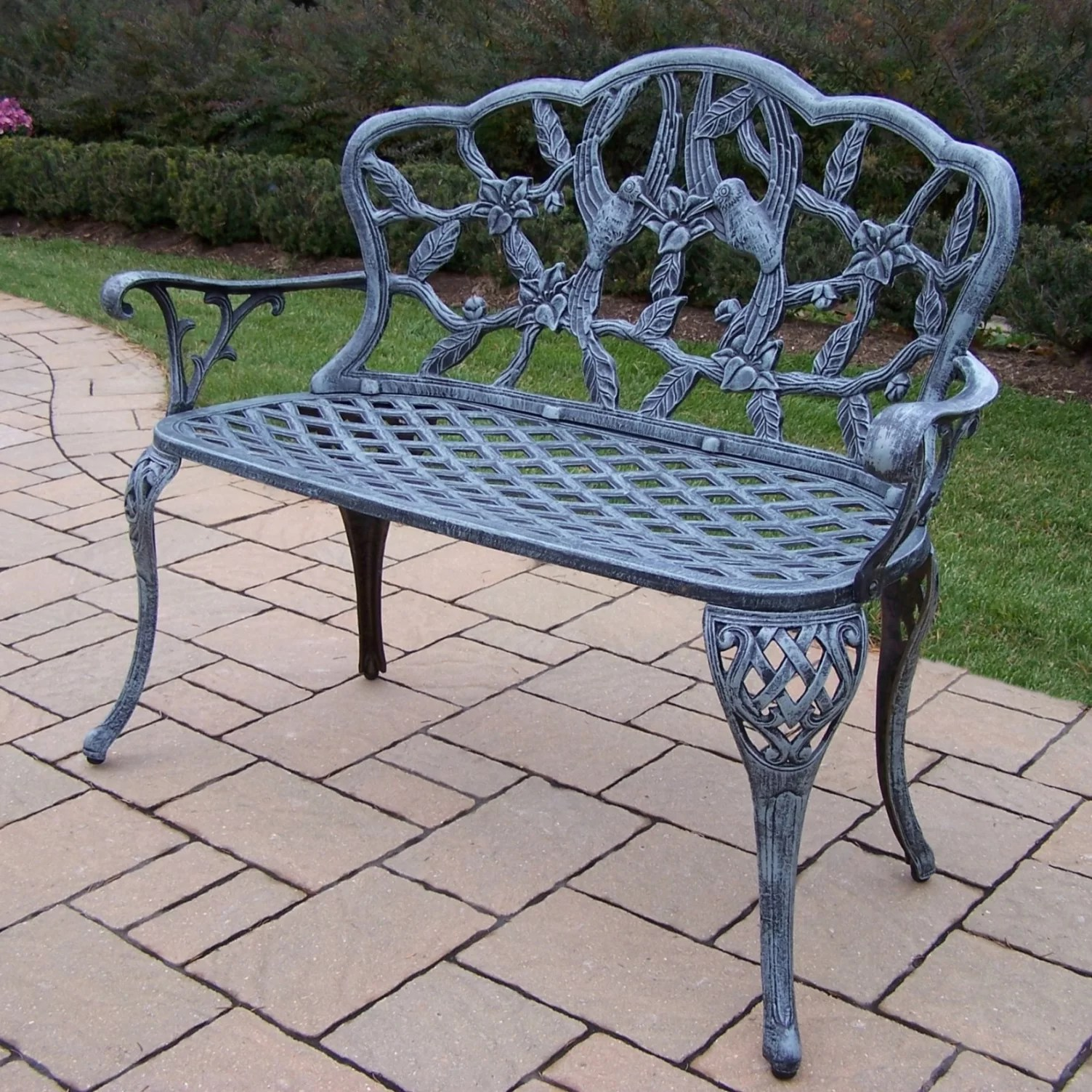 Small Garden Bench Hummingbird Aluminum Garden Bench