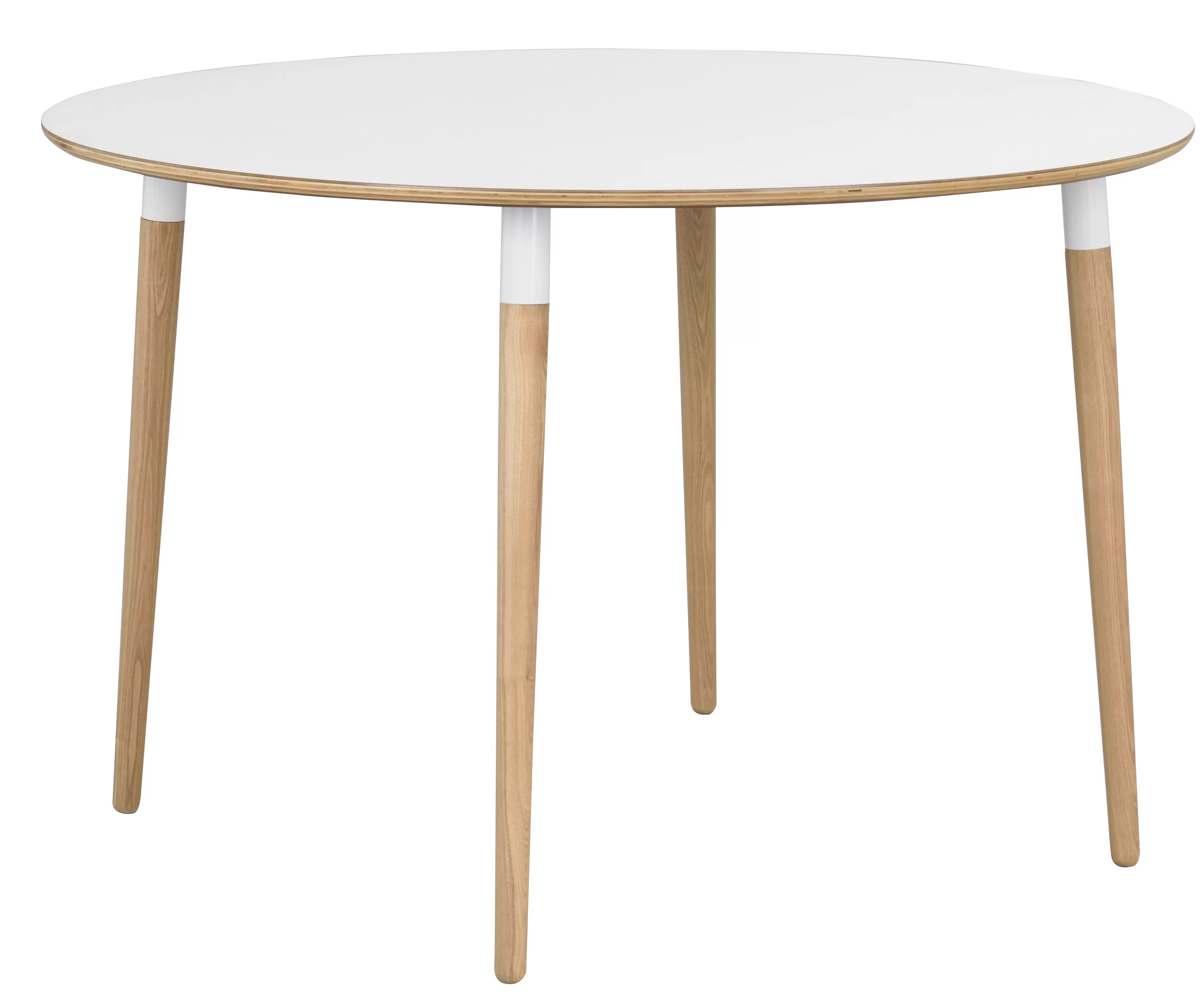The Wood Times Couchtisch Fusion Round Legs Dining Table