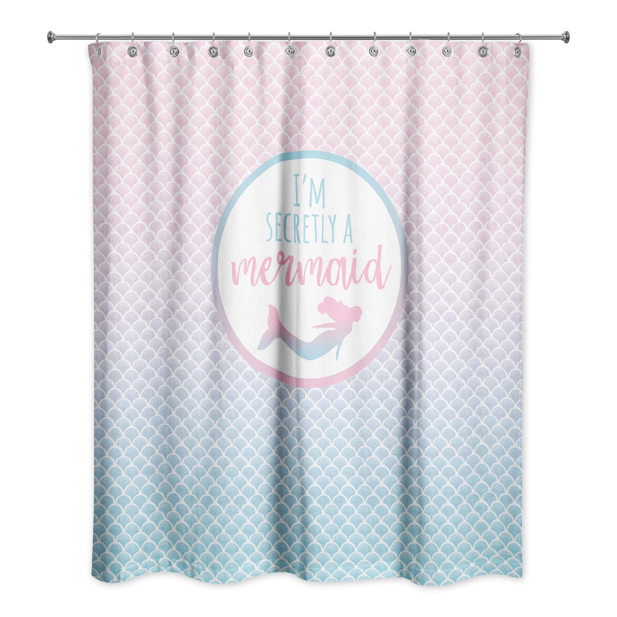 Mermaid Scale Shower Curtain Jarret Secretly A Mermaid Single Shower Curtain