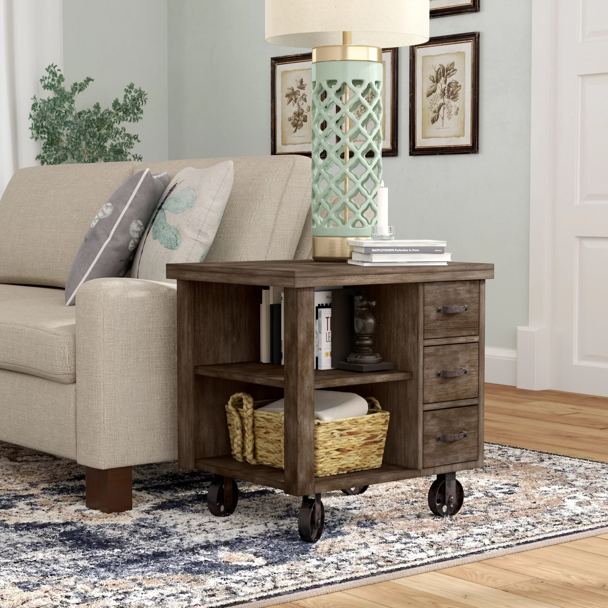 End Table For Living Room Remy End Table With Storage