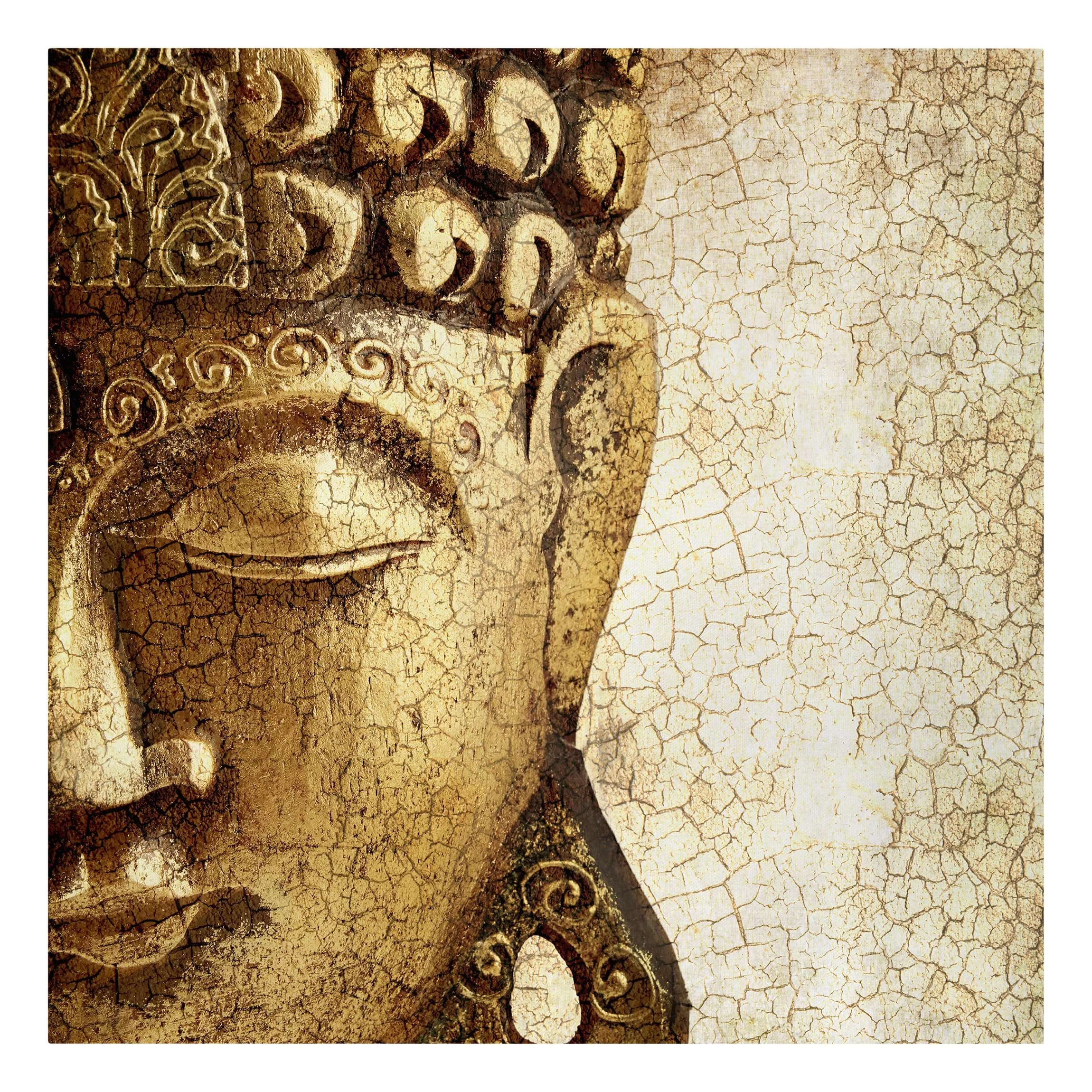 Leinwandbild Buddha East Urban Home Vintage Buddha Graphic Art Print On Canvas