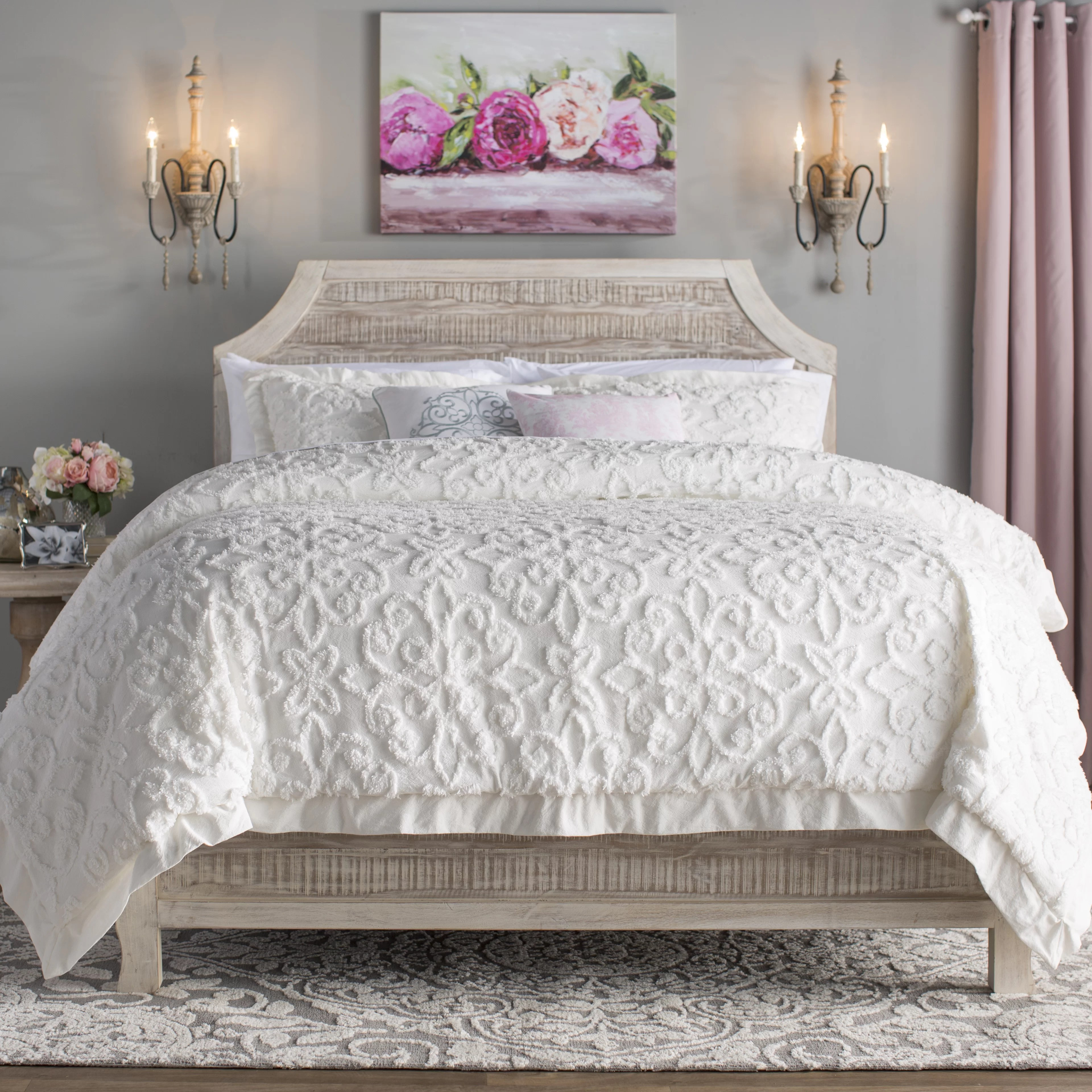 Duvet And Comforter Sets Keeney 100 Cotton 4 Piece Comforter Set