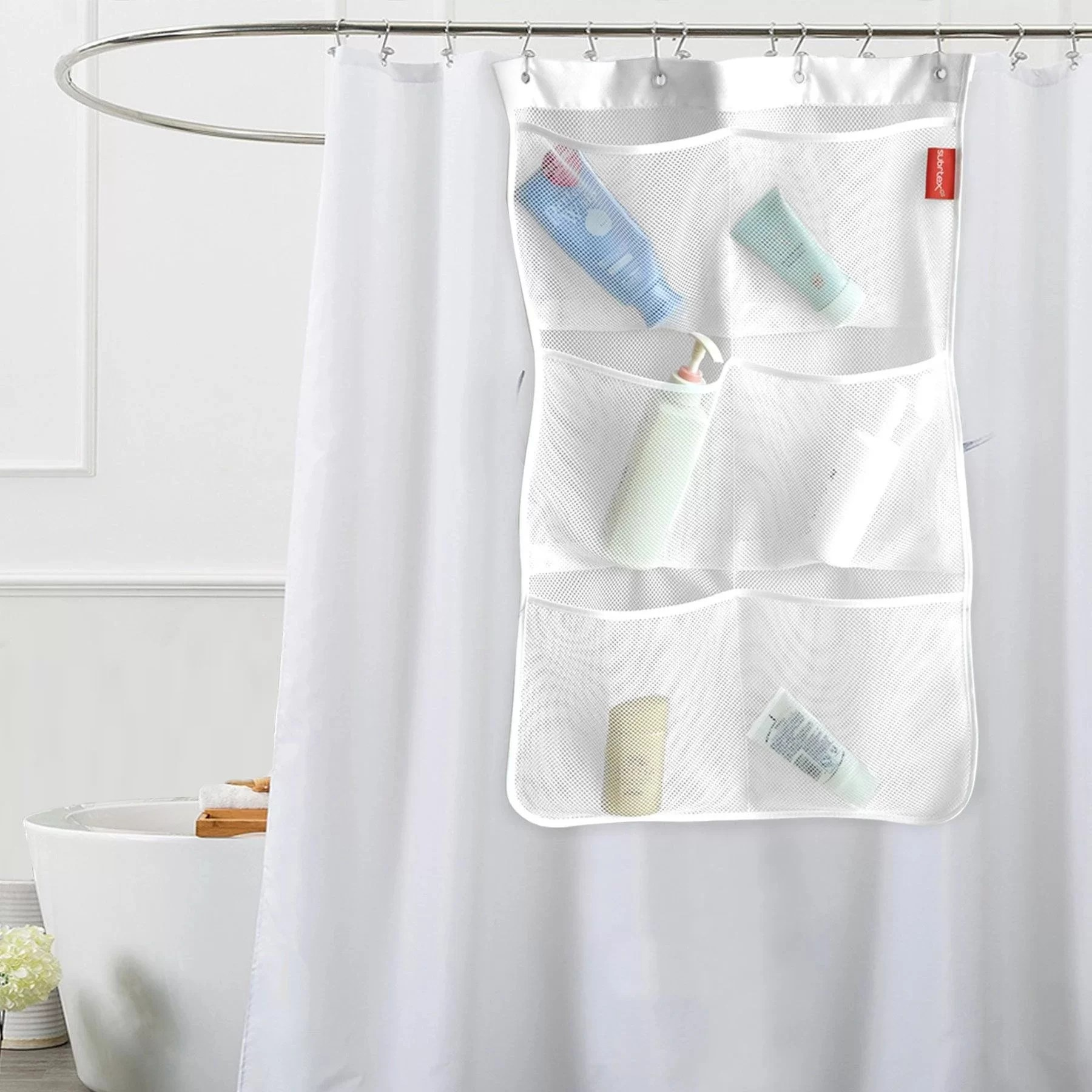 Rebrilliant Cornwall Mesh Bath Shower Caddy Reviews Wayfair Ca