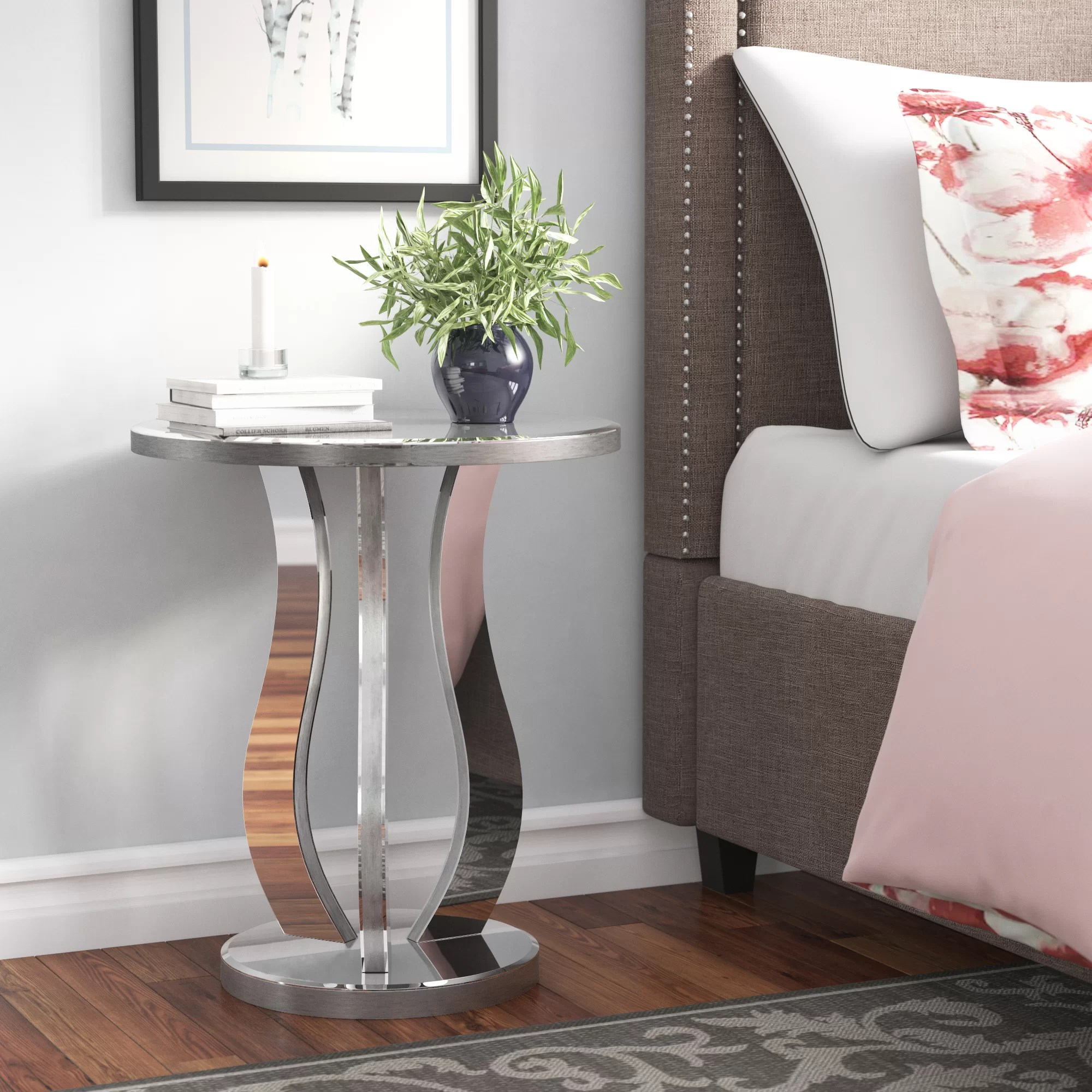Round Silver End Side Tables You Ll Love In 2021 Wayfair