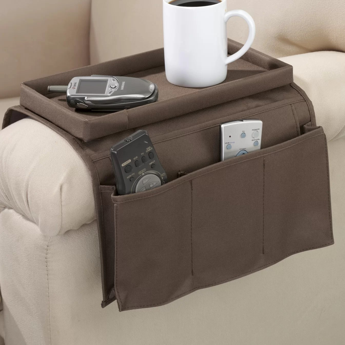 Sofa Arm Organizer Tray Armchair Caddy