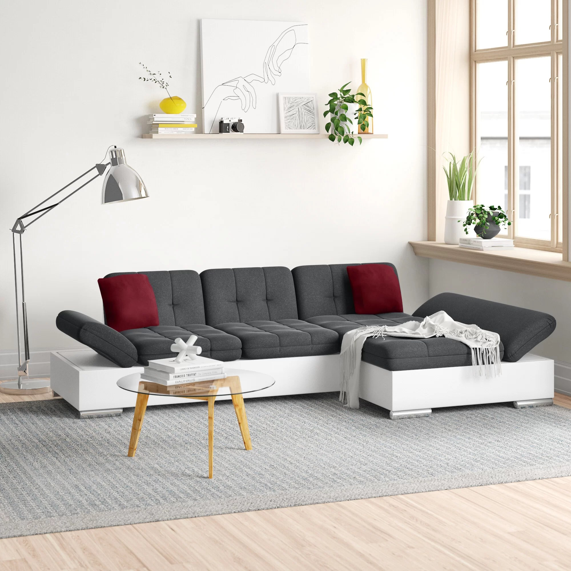 Zipcode Design Ecksofa Pablo Mit Bettfunktion Bewertungen Wayfair De