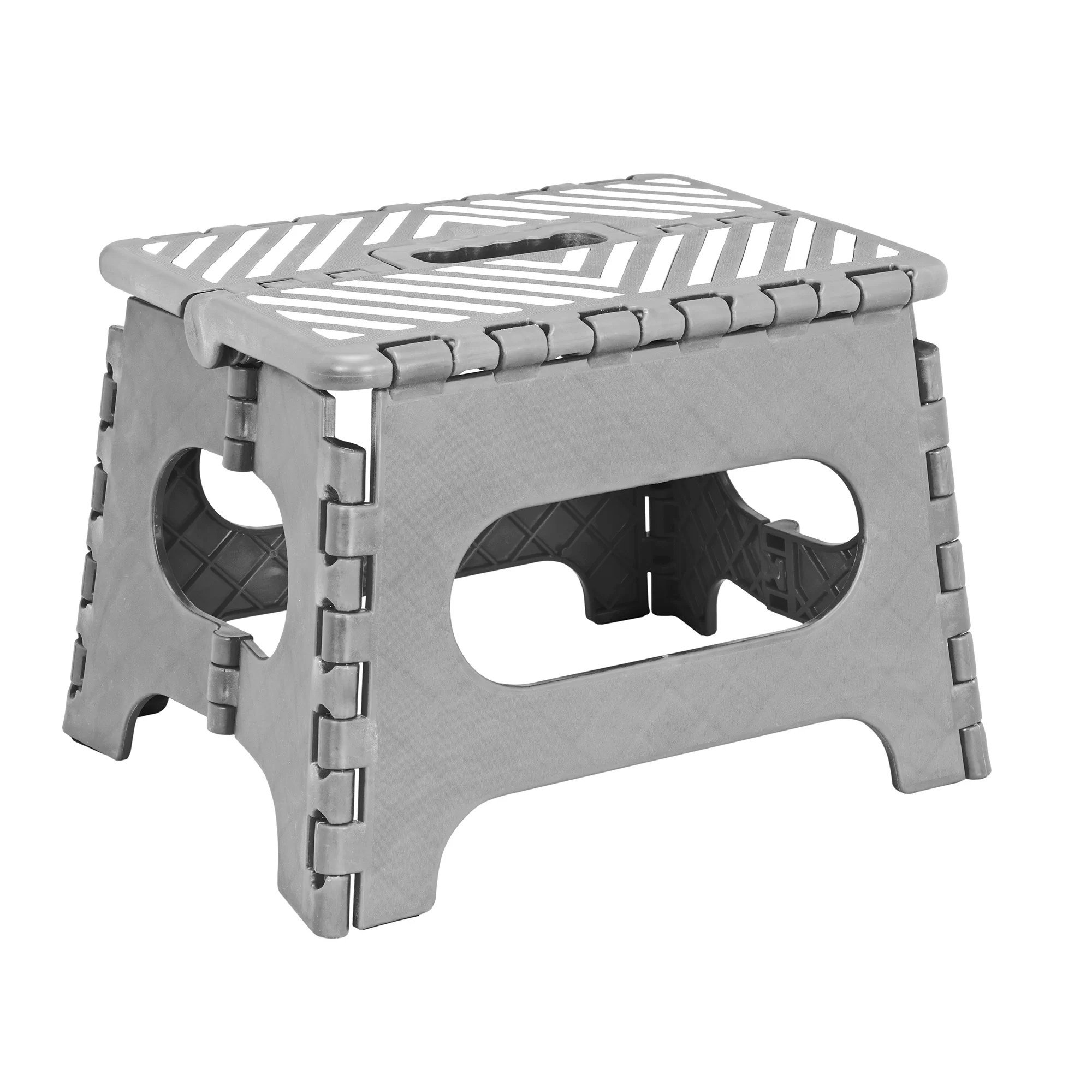 Metal Step Stool 1 Step Plastic Folding Step Stool With 200 Lb Load Capacity