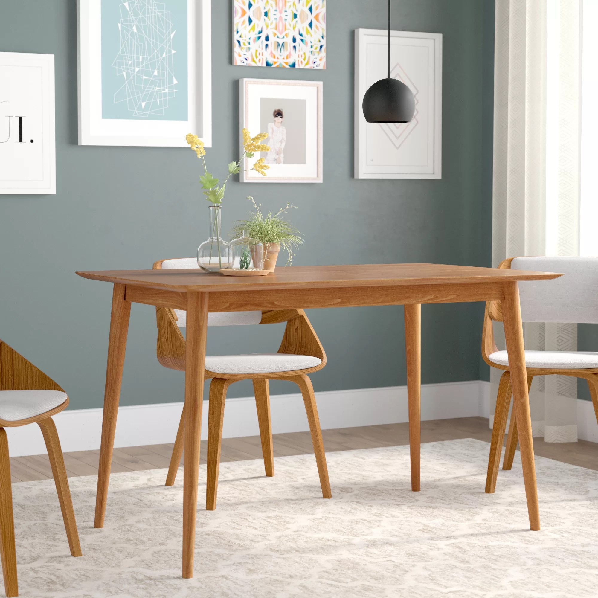 Modern Dining Room Furniture Goodyear Mid Century Modern Solid Wood Dining Table