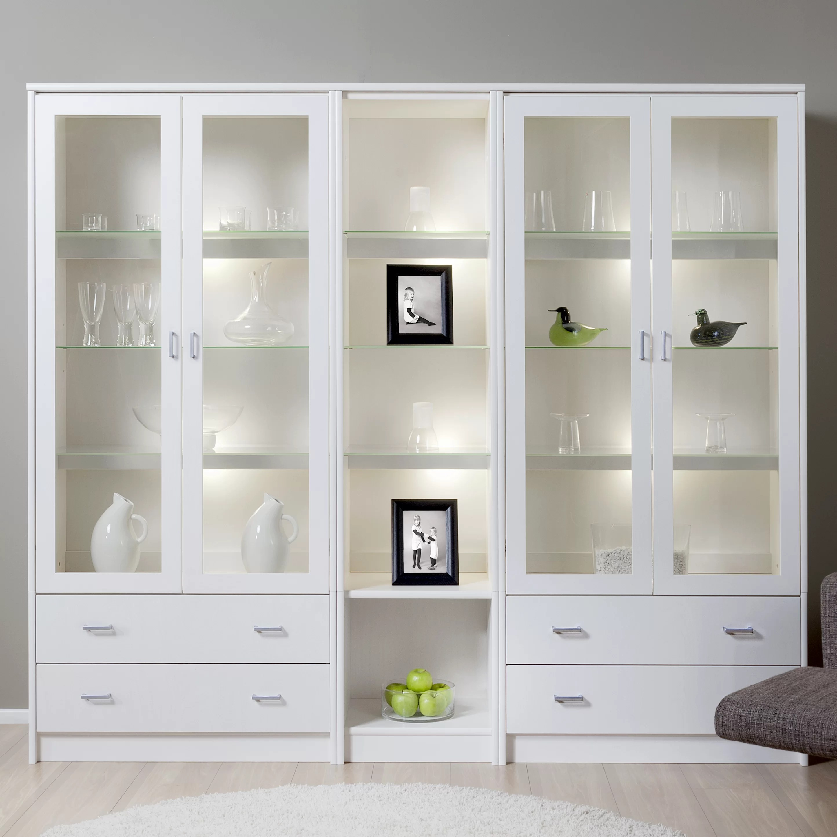 Design Regal Regal Display Cabinet With Lighting