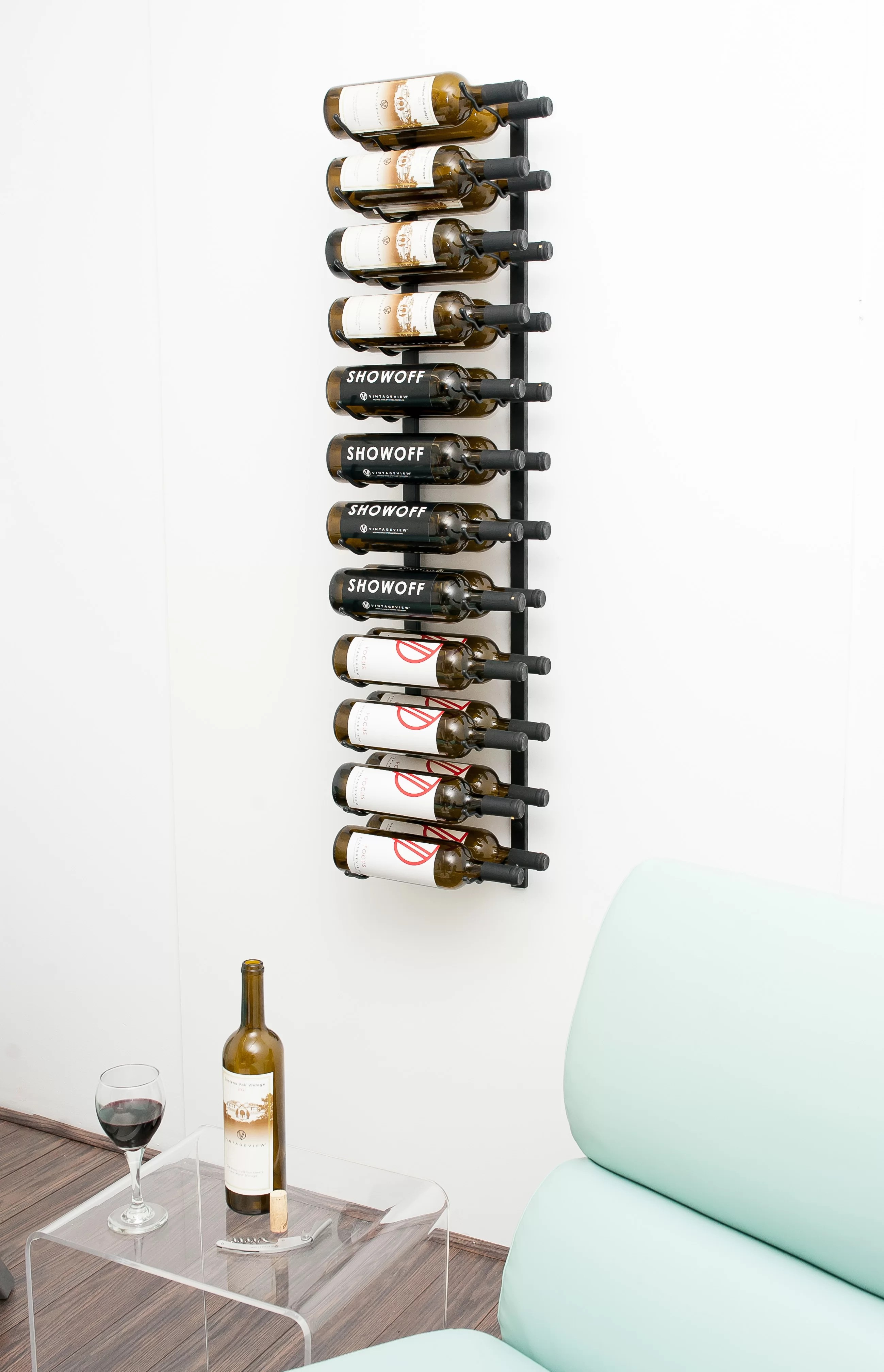 Metal Wine Racks 24 Bottle Metal Wall Mounted Wine Rack