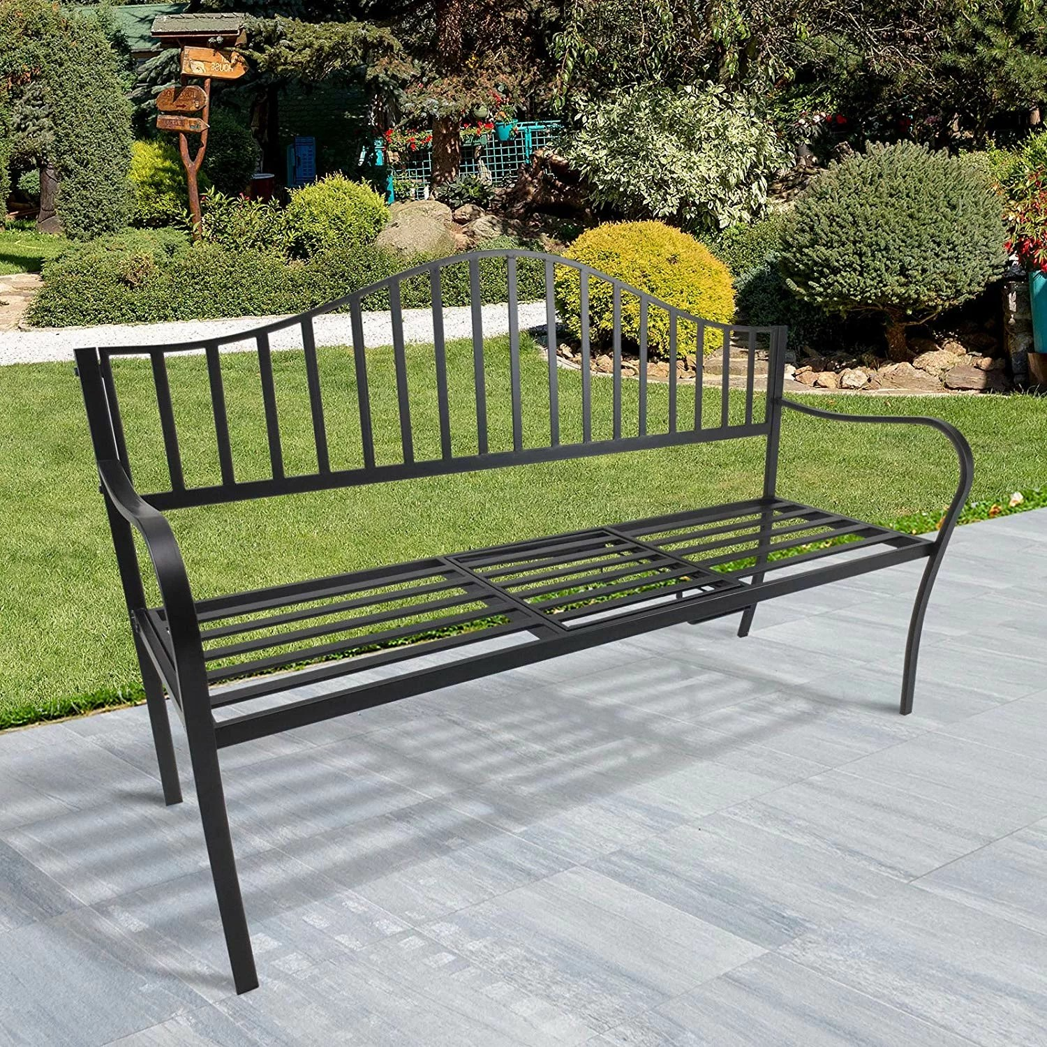 Gartenbank Metall Modern Garten Living Gartenbank Valleywood Aus Metall & Bewertungen | Wayfair.de