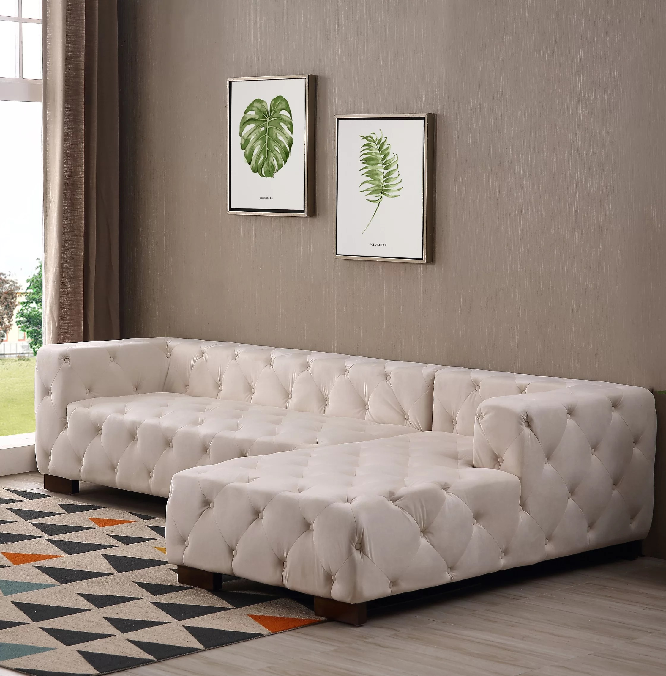 Chesterfield Sectional Sofa Harris Chesterfield Sectional
