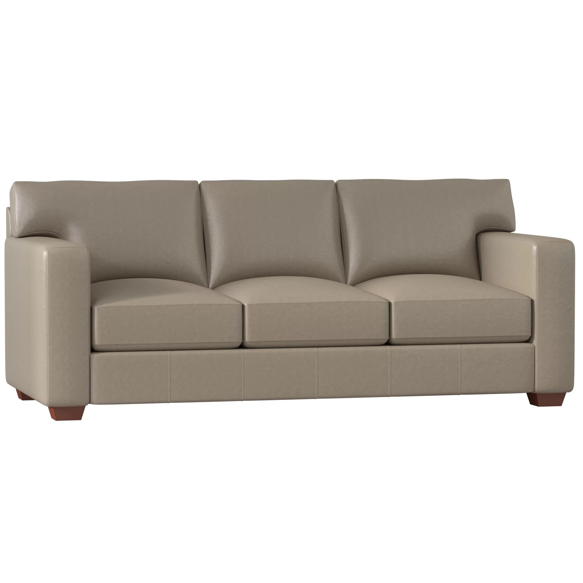 Sofa Leather Repair Toronto Birch Lane Heritage Pratt Leather Sofa Reviews Birch Lane