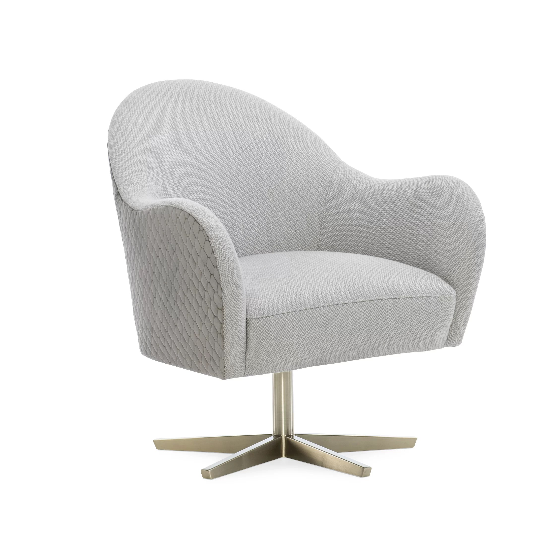 Caracole Modern Modern Edge Verge Swivel Barrel Chair Wayfair