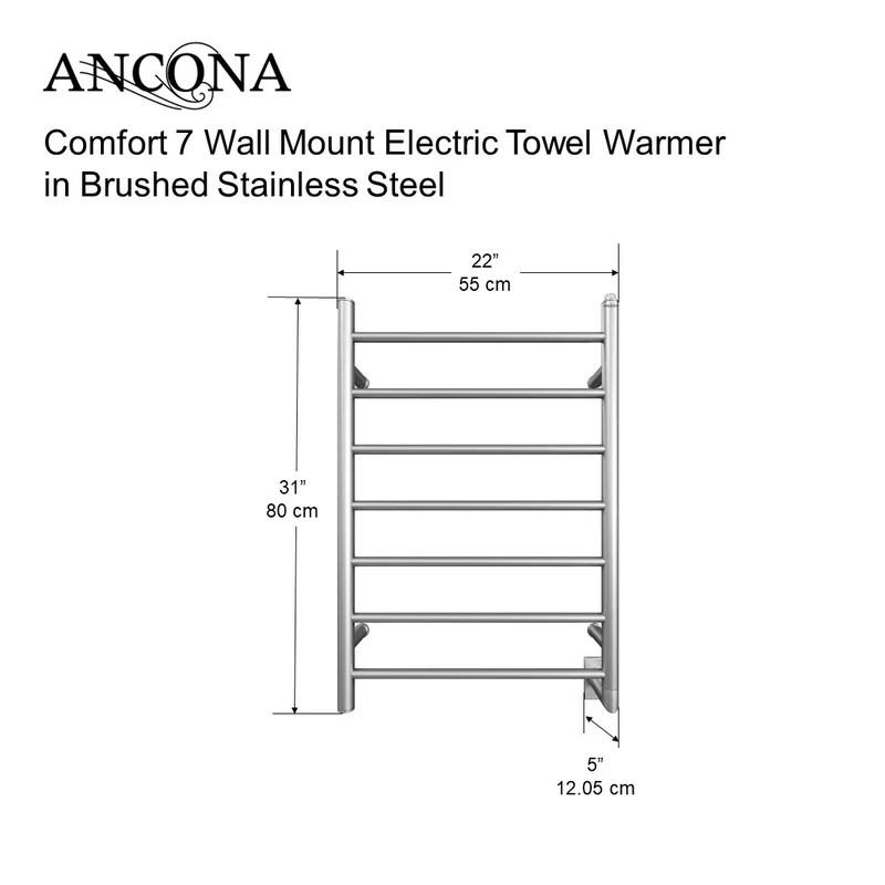 Ancona Comfort Wall Mount Electric Towel Warmer  Reviews Wayfair