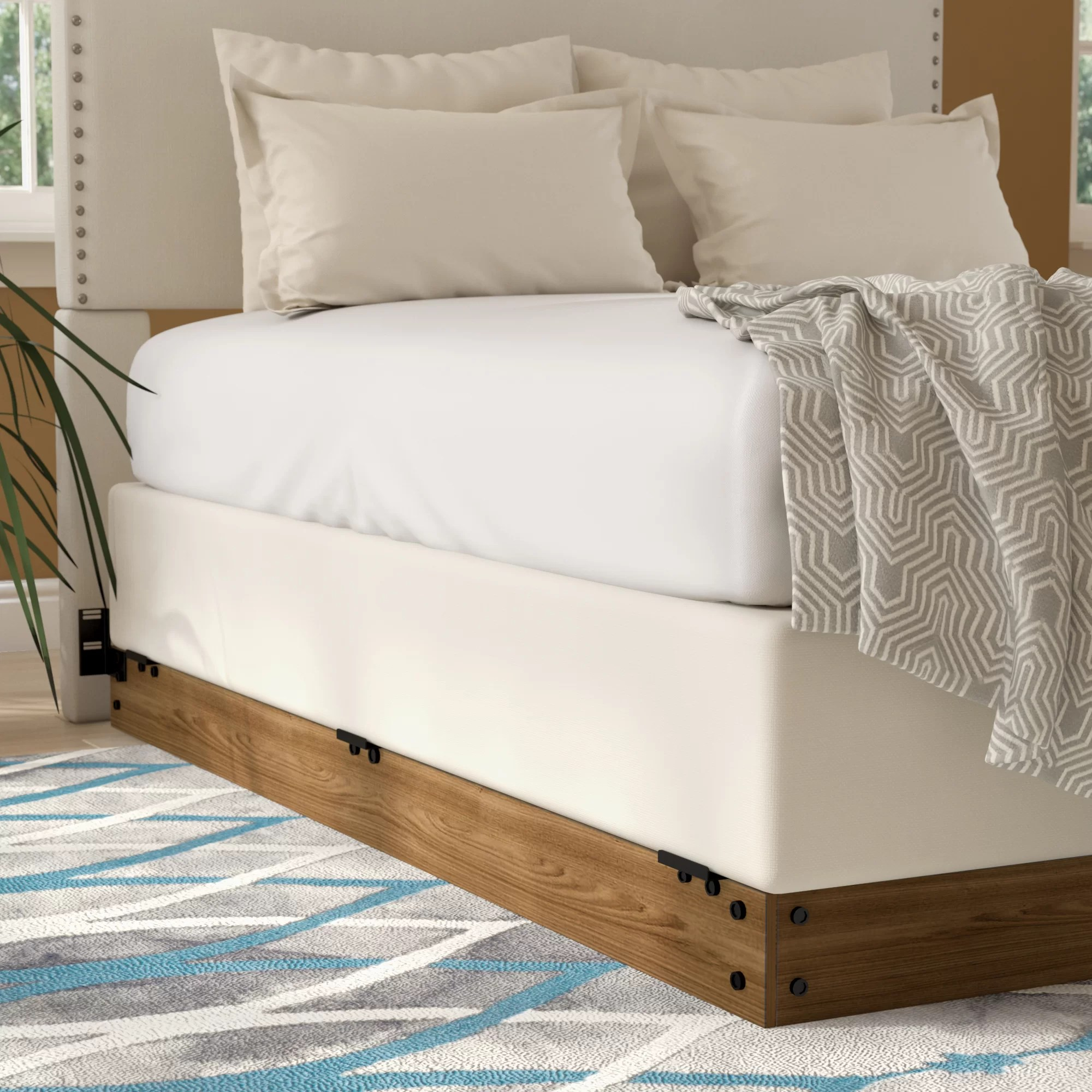 Cheap Wooden Bed Frames Winston Wood Bed Frame For Box Spring