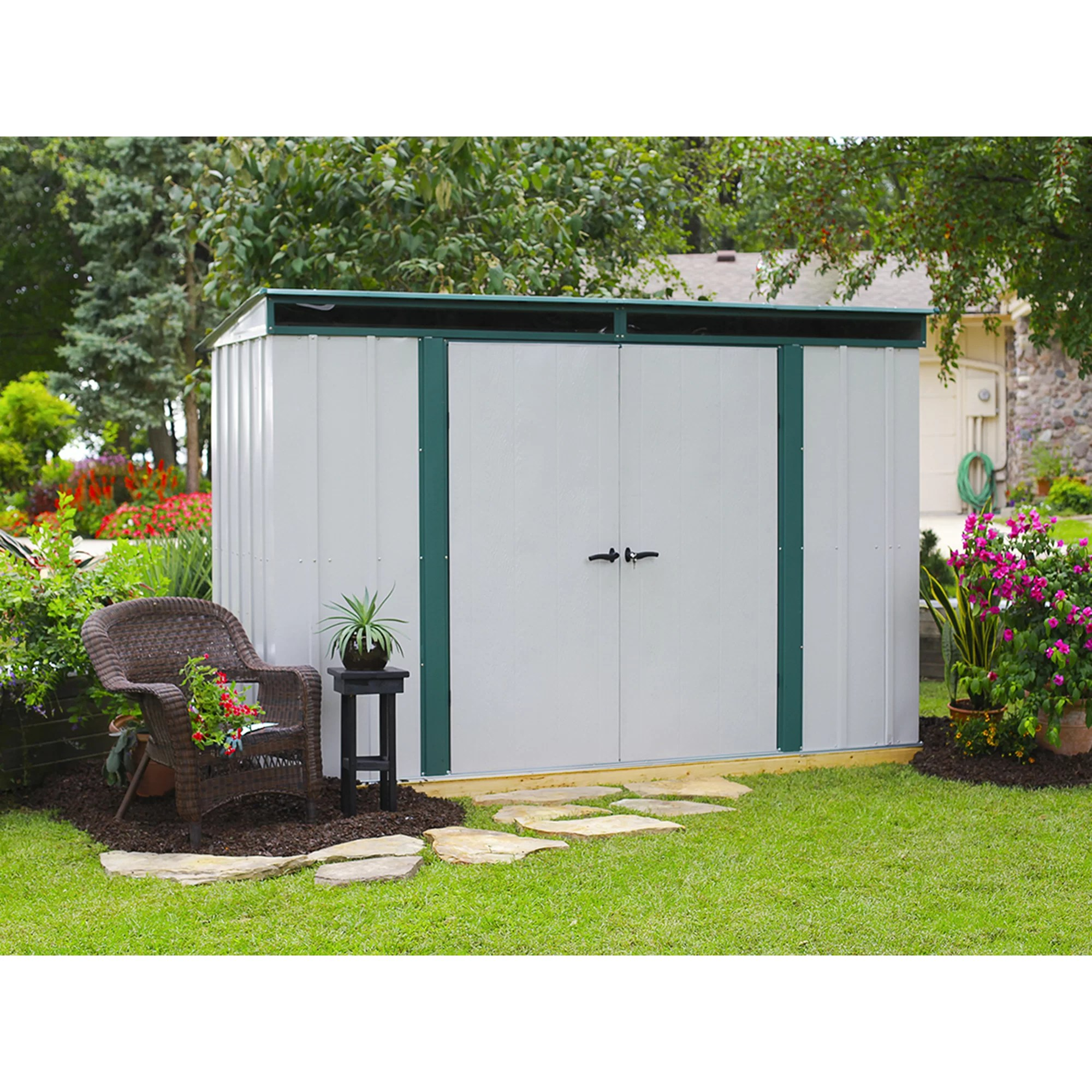 Steel Storage Sheds Euro Lite 10 Ft X 4 Ft Metal Storage Shed