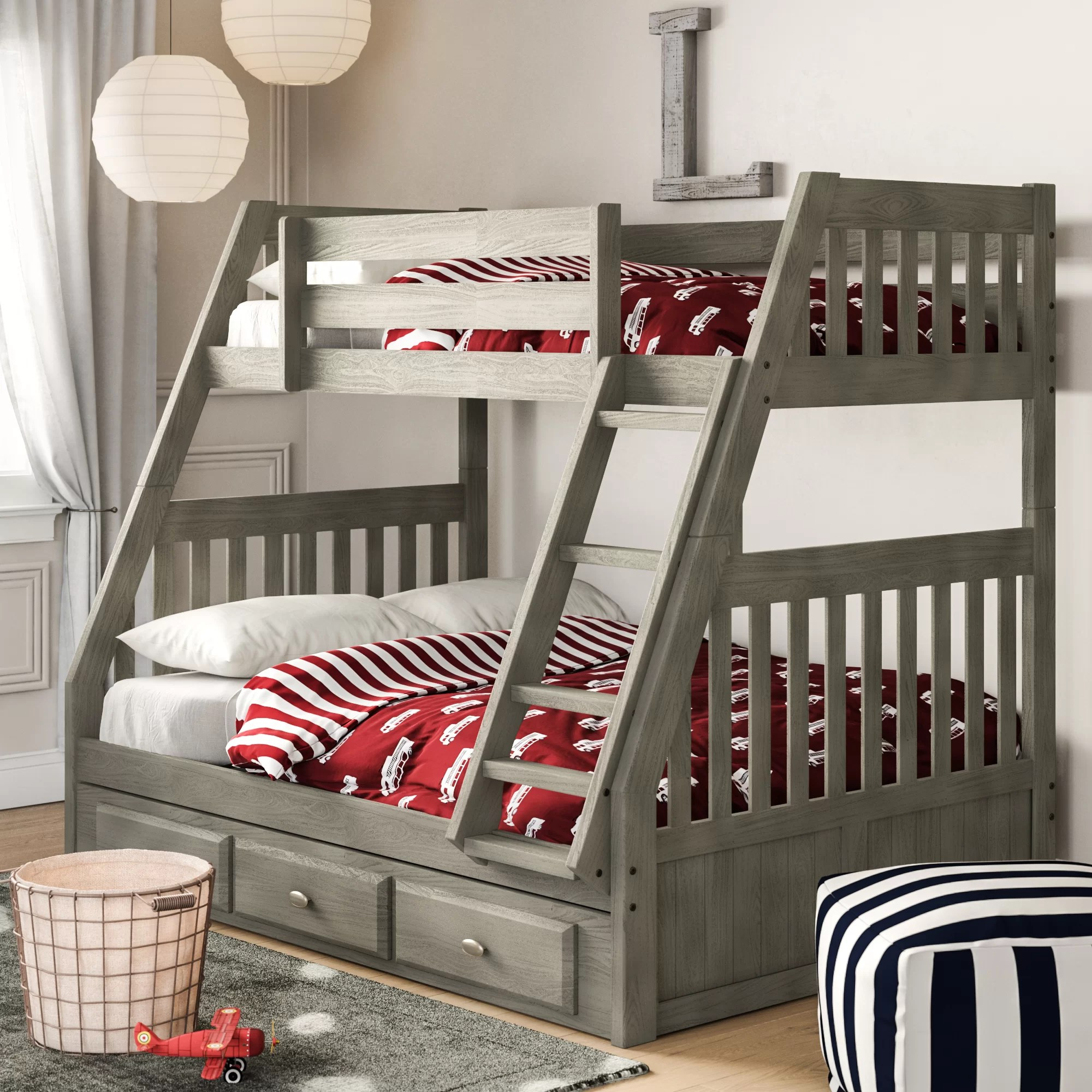 Snooze Bunk Beds Willis Twin Over Full Bunk Bed With Drawers
