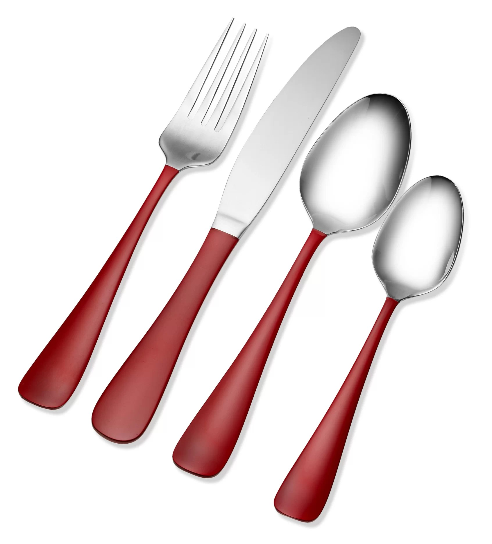 Red Handle Flatware Tomodachi 16 Piece Flatware Set Service For 4