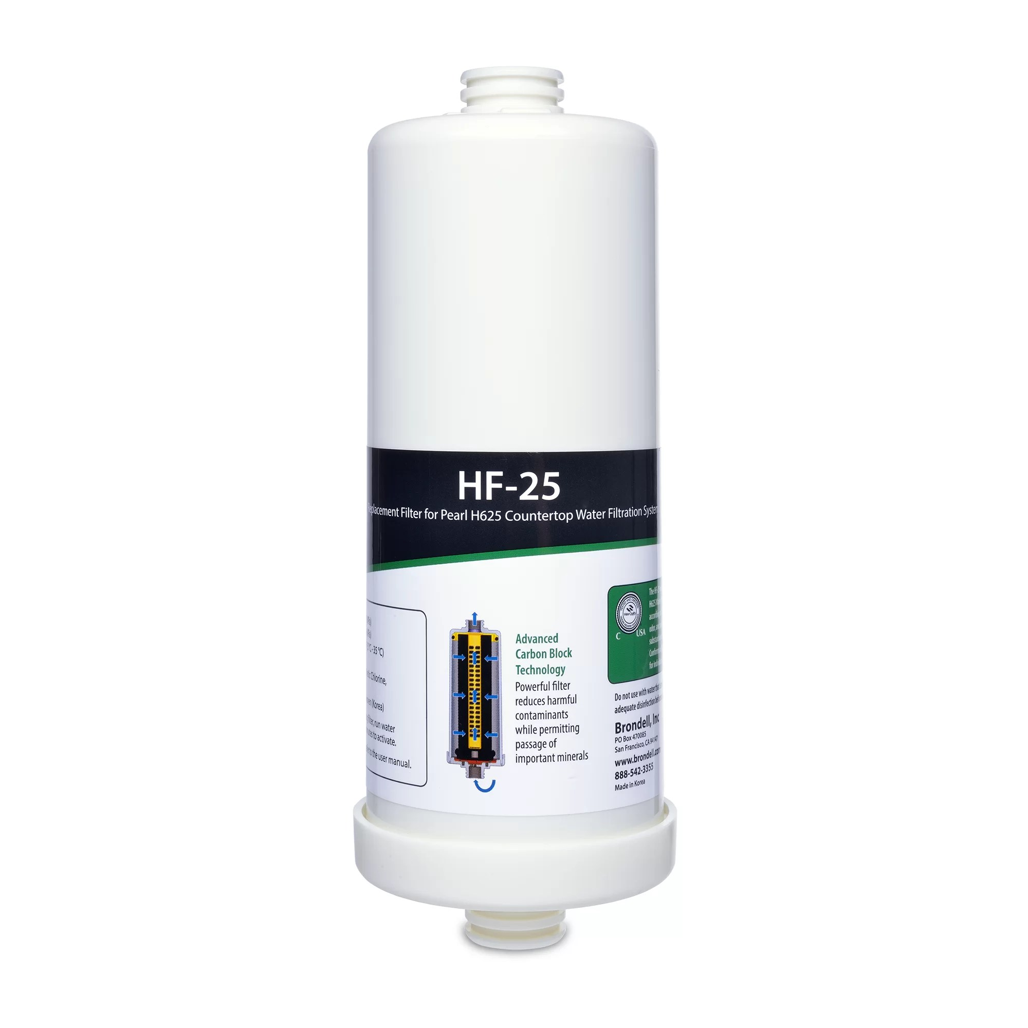 Carbon Water Filter System H2o Pearl Carbon Block Water Filter