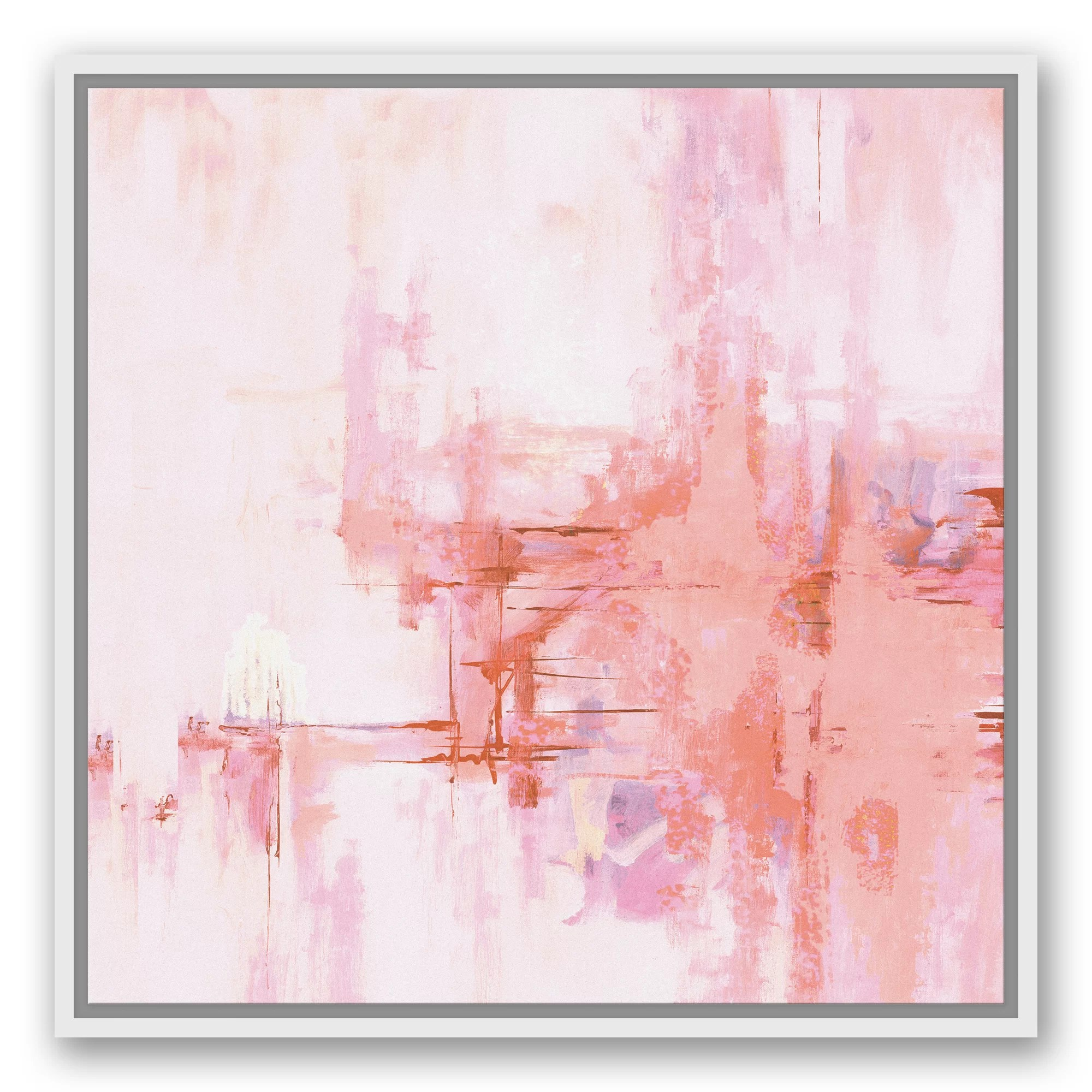 Abstract Art Prints On Canvas Blush Pink Abstract Framed Graphic Art Print On Canvas