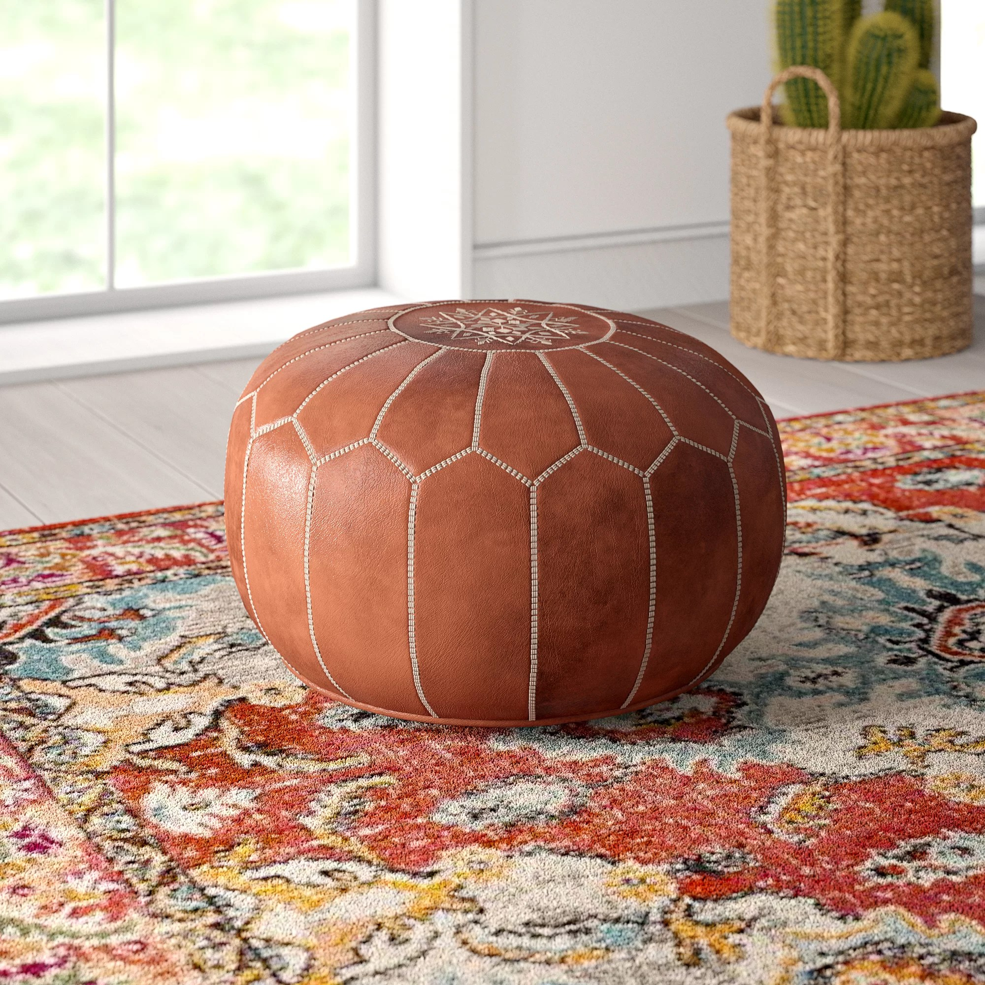 Moroccan Leather Pouf Design Sit Down Pinterest Leather Carolos Leather Pouf