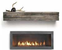 Dogberry Collections Modern Fireplace Mantel Shelf ...