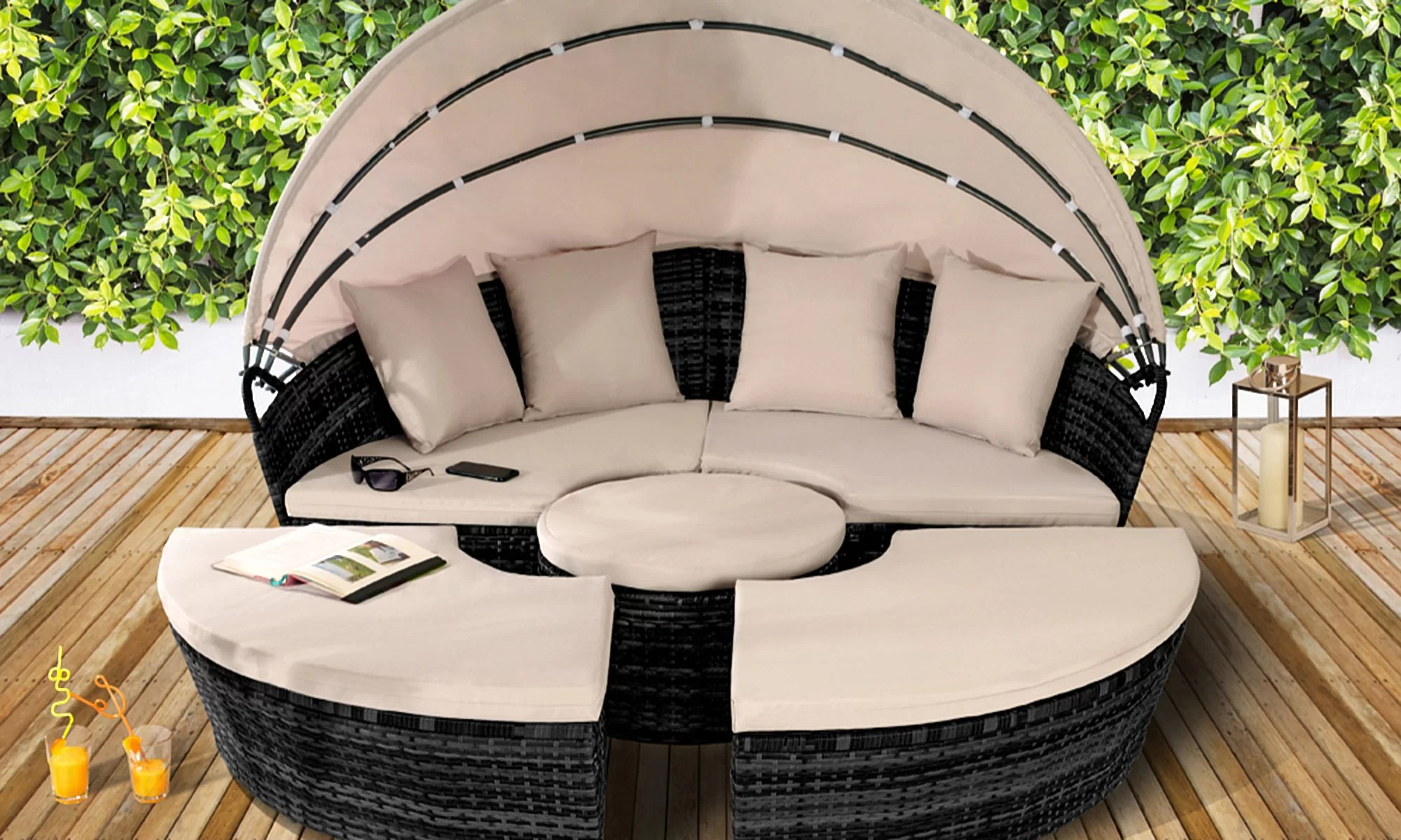 Pearl Daybed Outdoor Jalyn Garden Daybed With Cushions