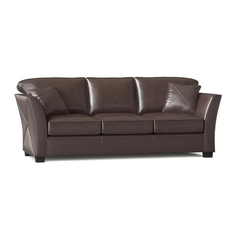 Omnia Leather Manhattan Leather Sofa Reviews Wayfair