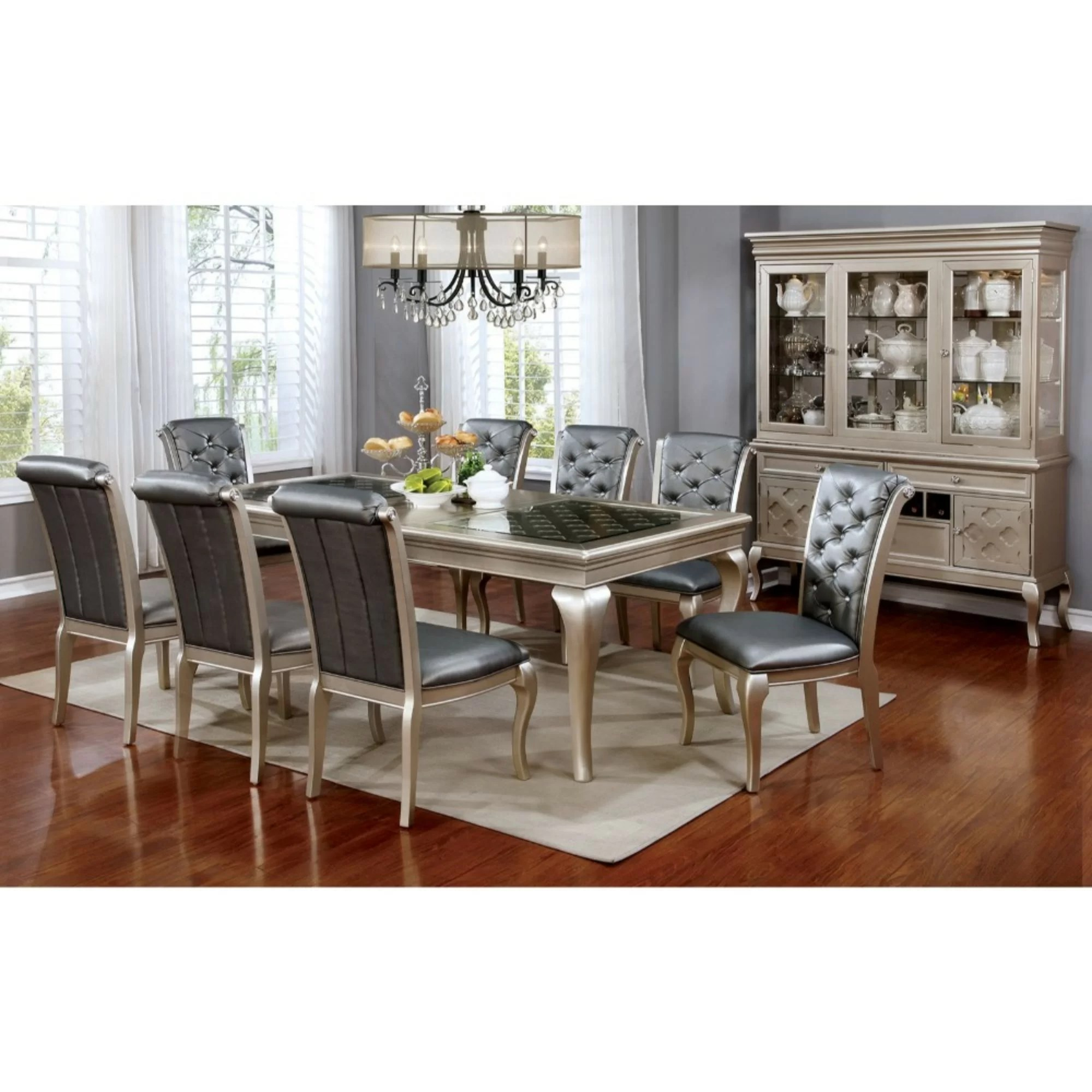Gold Flamingo Ashley Contemporary Dining Table Wayfair