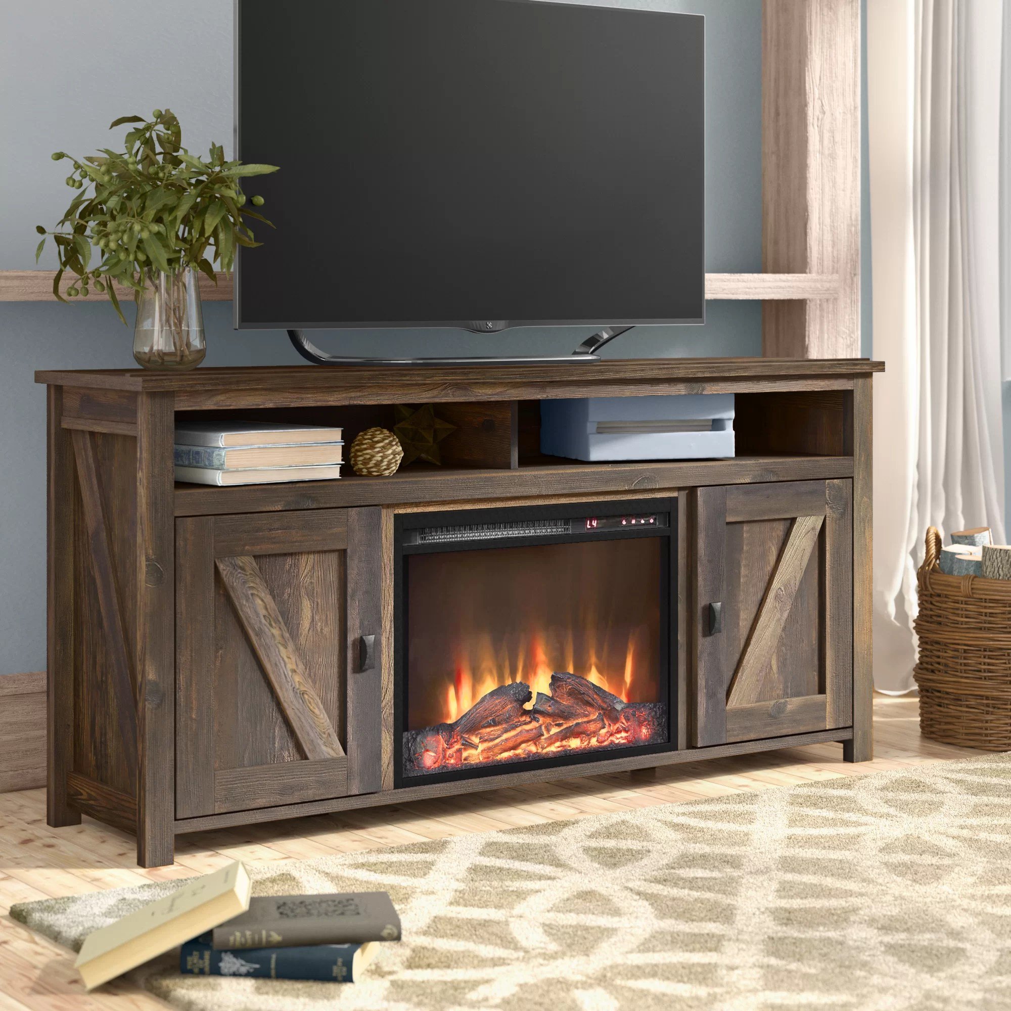 Fireplace Tv Combo Mistana Whittier Tv Stand For Tvs Up To 60