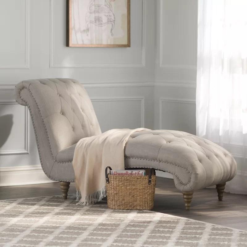 Lark Manor Versailles Chaise Lounge \ Reviews Wayfair - living room chaise lounge