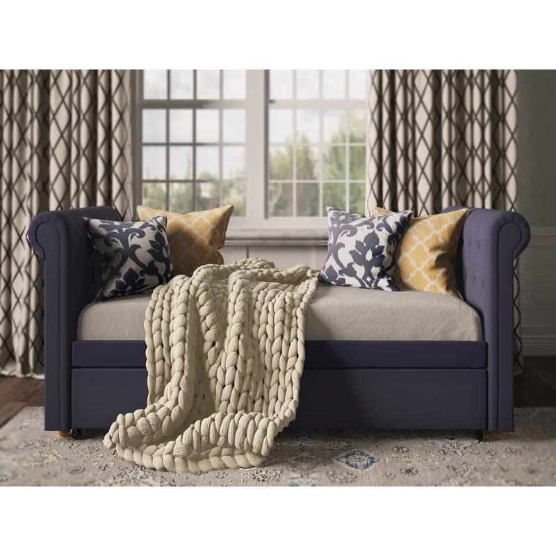 Three Posts Rossburg Daybed with Trundle  Reviews Wayfair