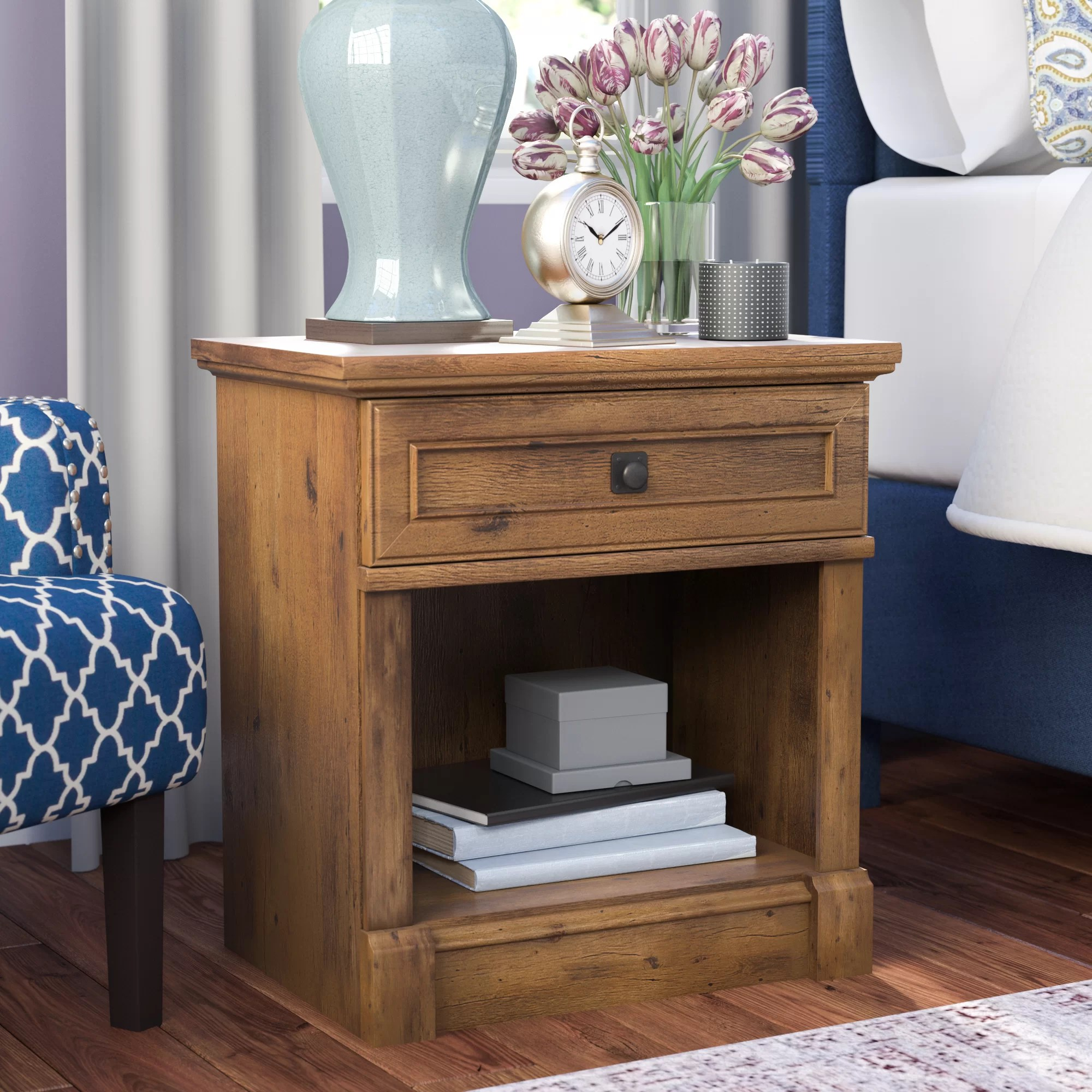 Classic Bedroom Escape Orviston 1 Drawer Nightstand