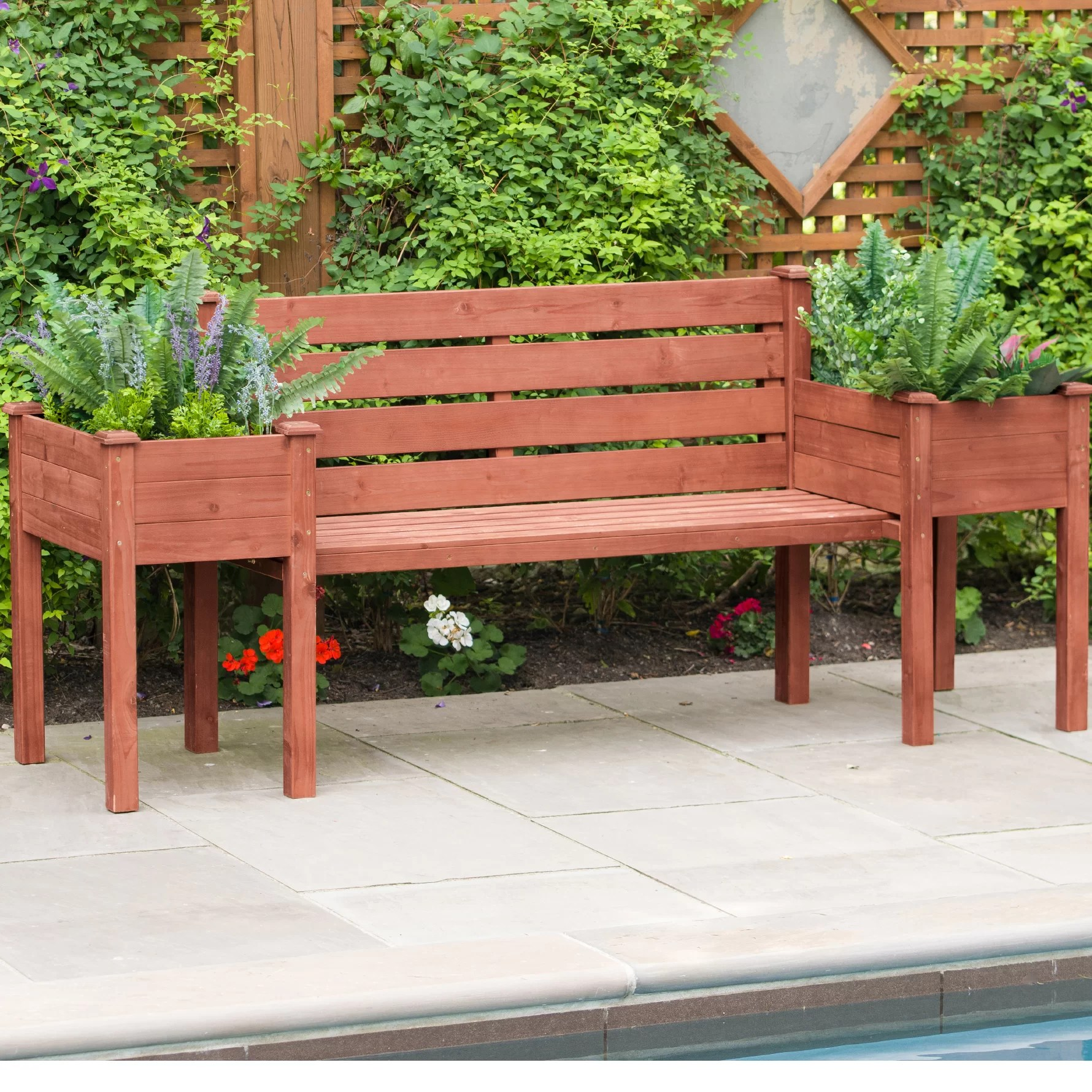 Planting Tables For Sale Wood Planter Bench