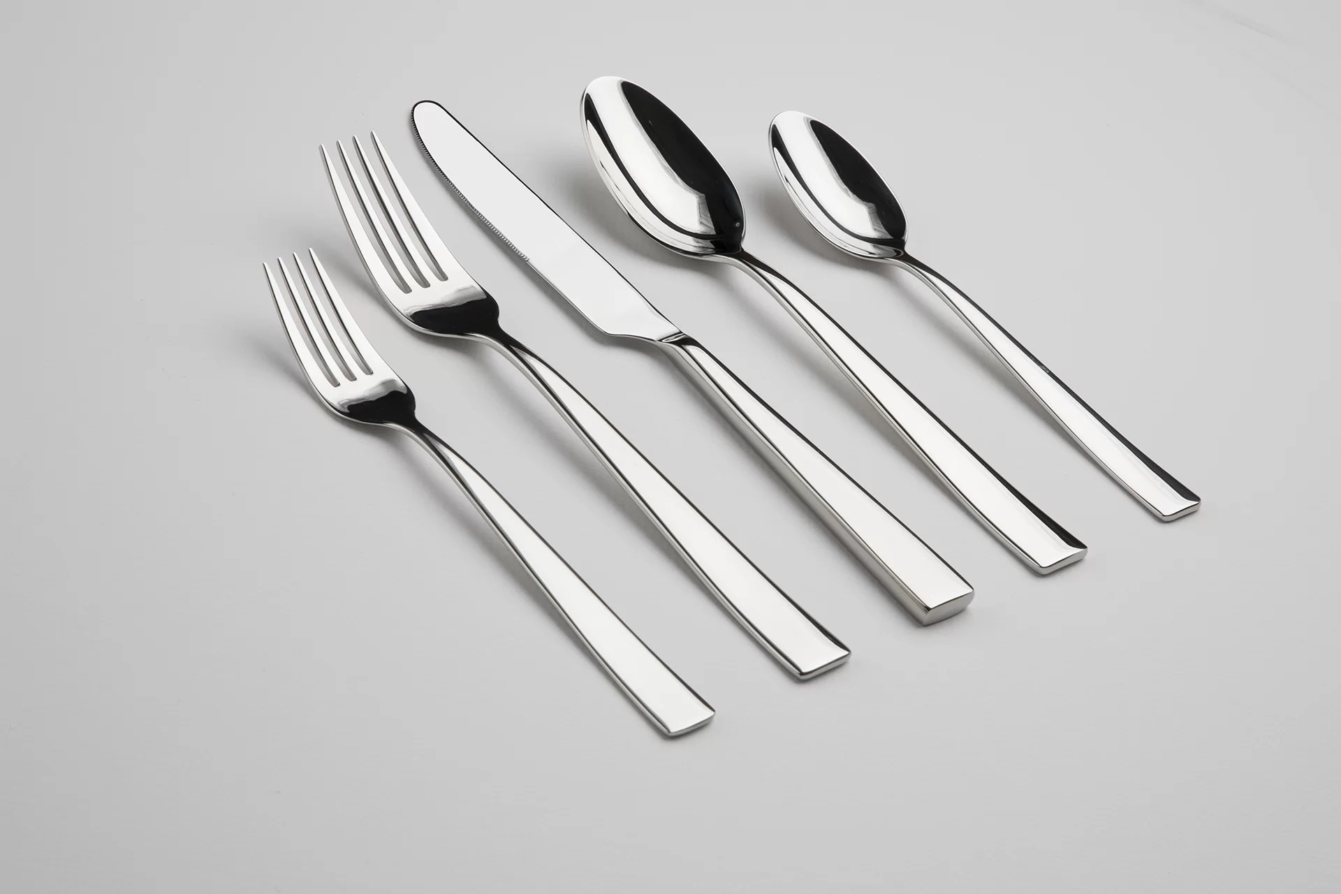 Used Flatware For Sale Resto 60 Piece 18 10 Stainless Steel Flatware Set Service For 12