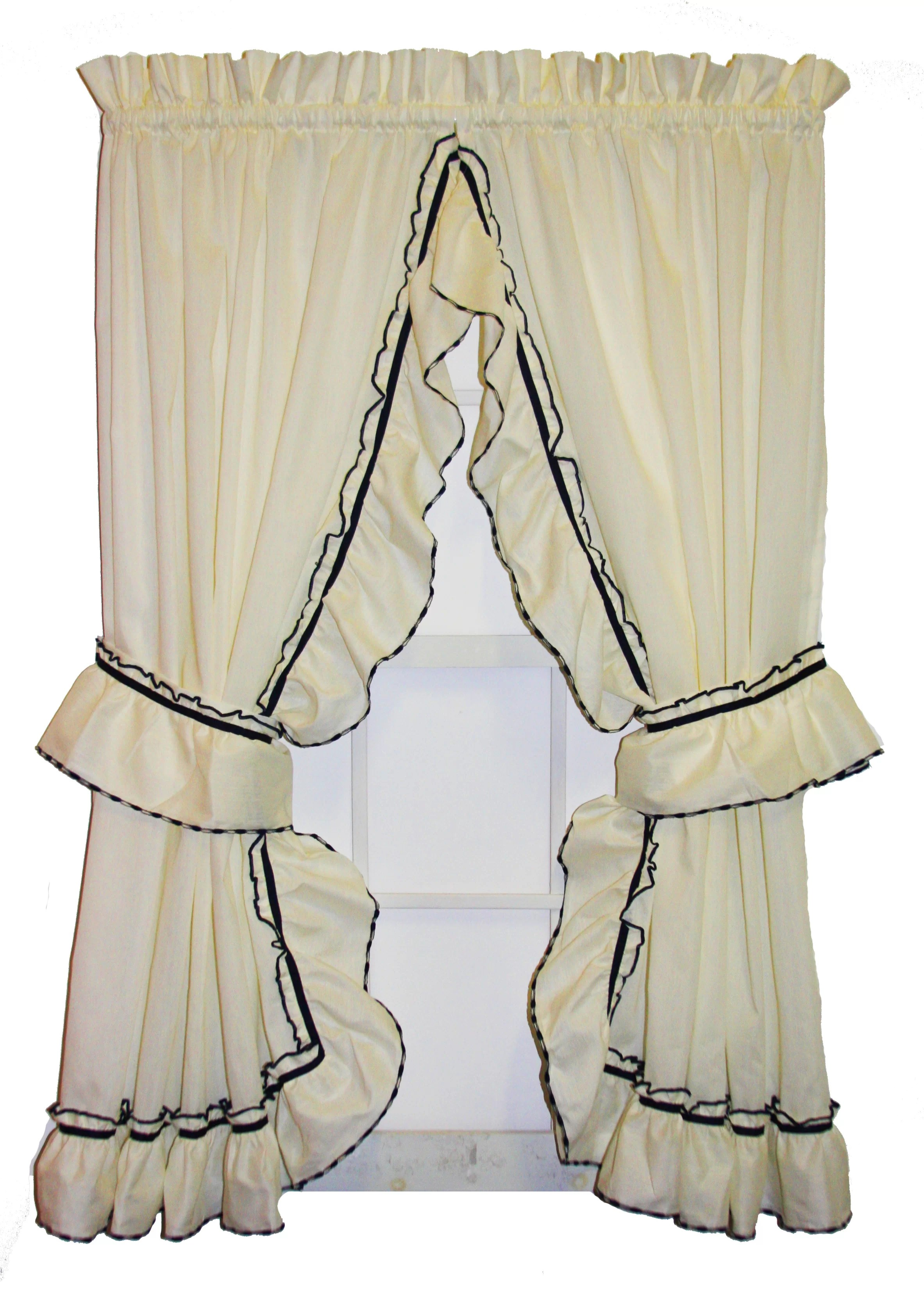 Ruffle Curtain Panel Hower Country Ruffled Priscilla Curtain Panels Pair