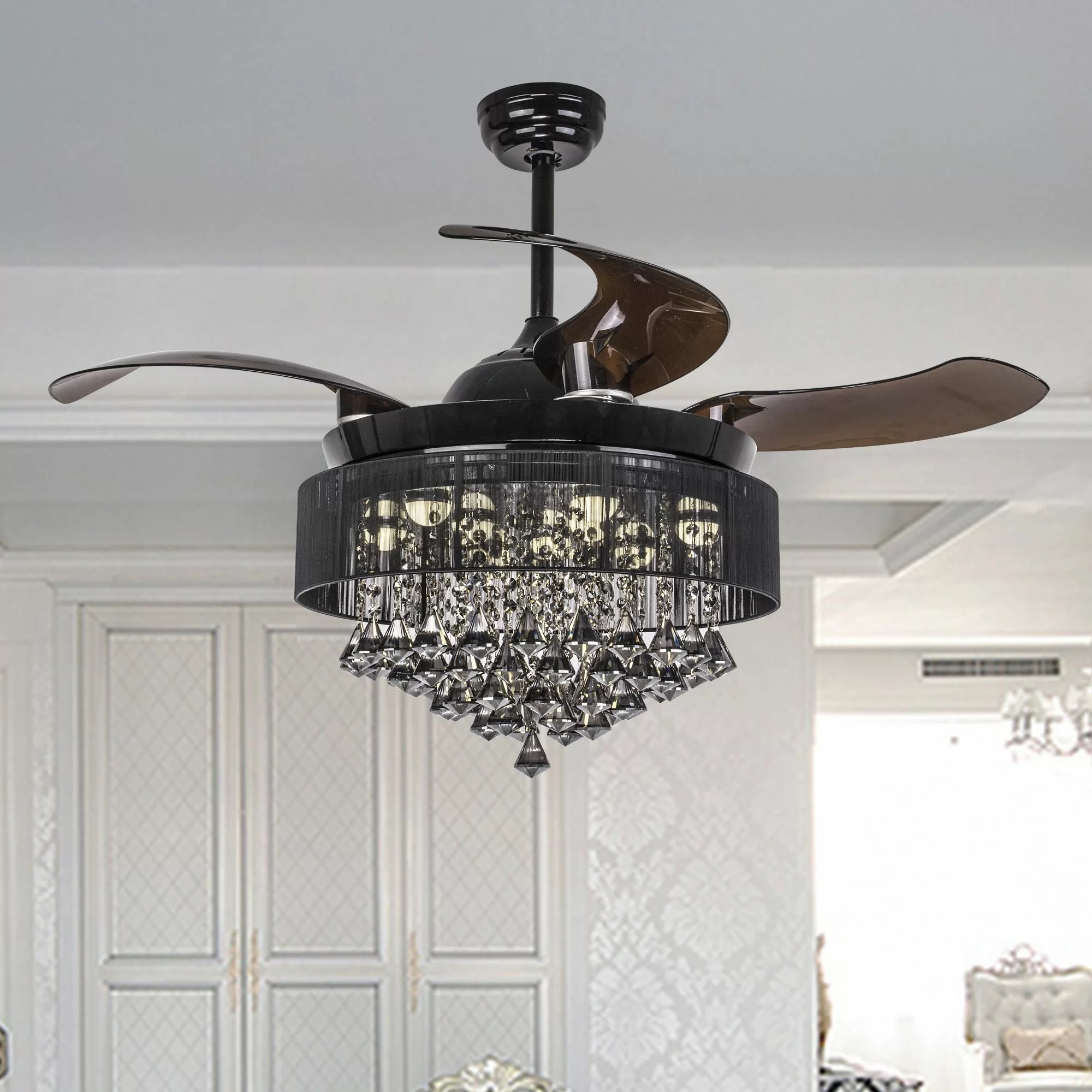 Ceiling Fan With Folding Blades 43