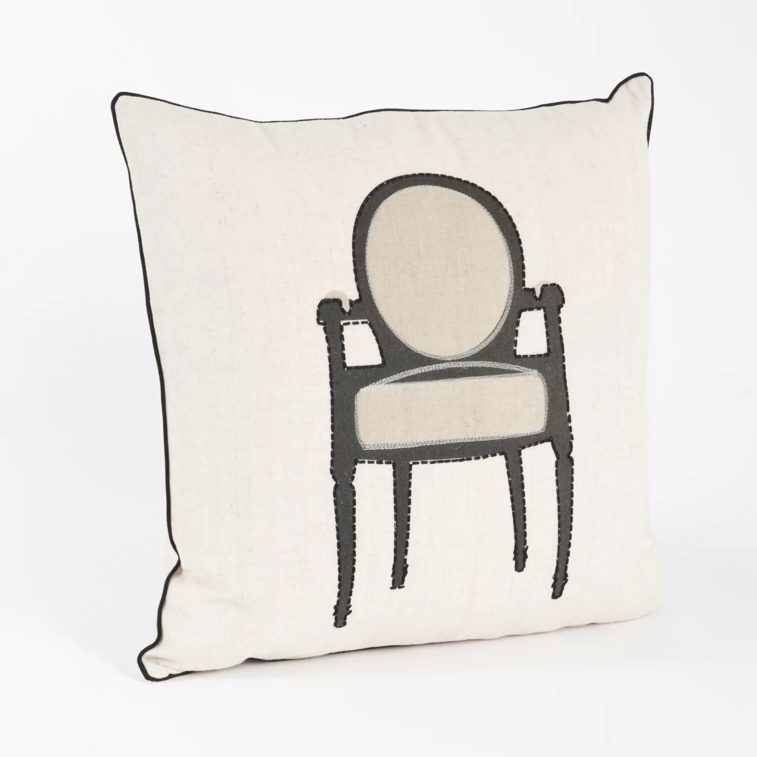 Petite Chaise Petite Chaise Chair Design Throw Pillow