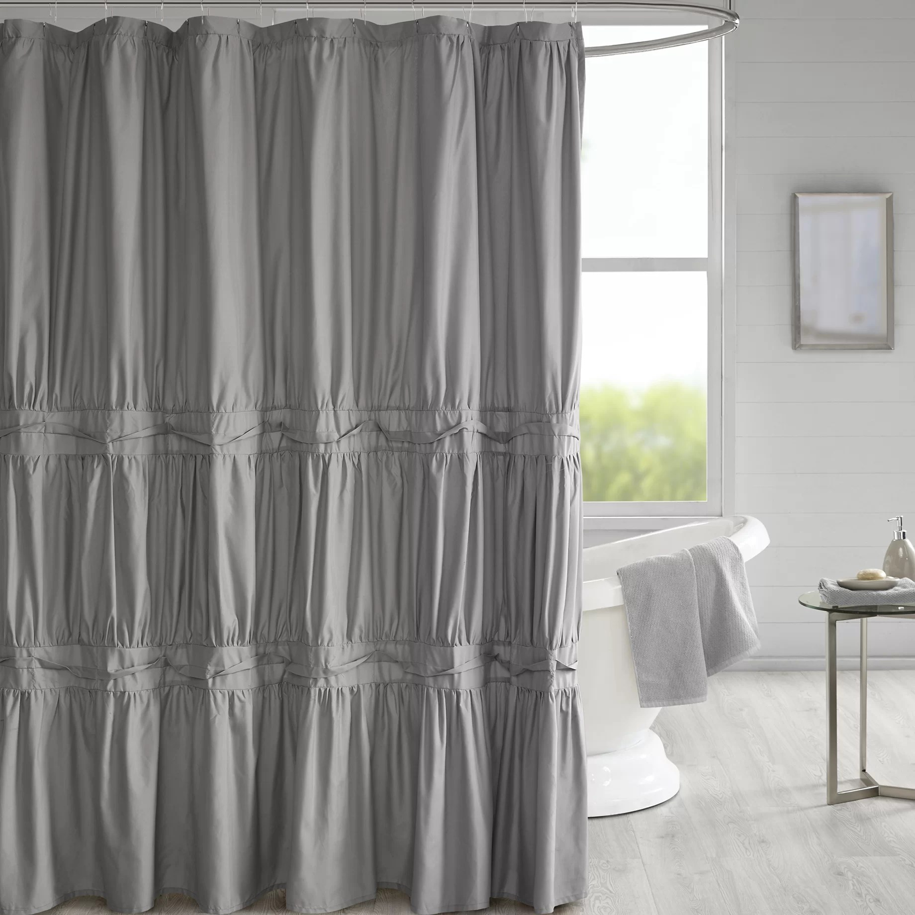 Cute Girly Shower Curtains Tyntesfield Solid Single Shower Curtain