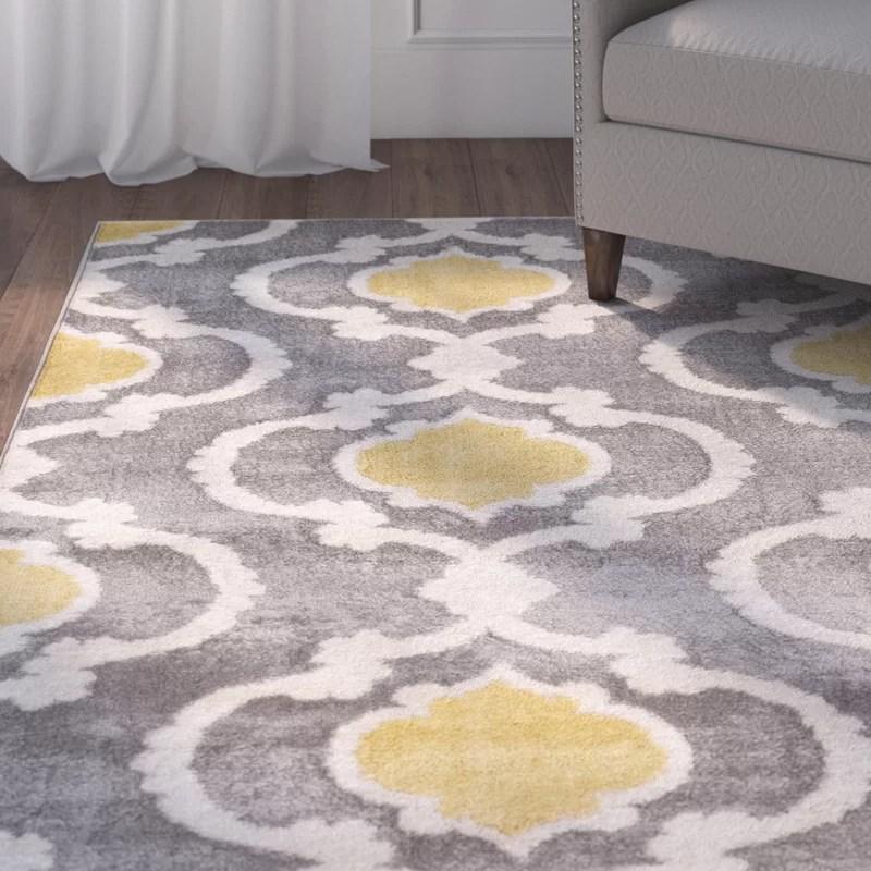 Andover Mills Melrose Gray Area Rug \ Reviews Wayfair - grey living room rug