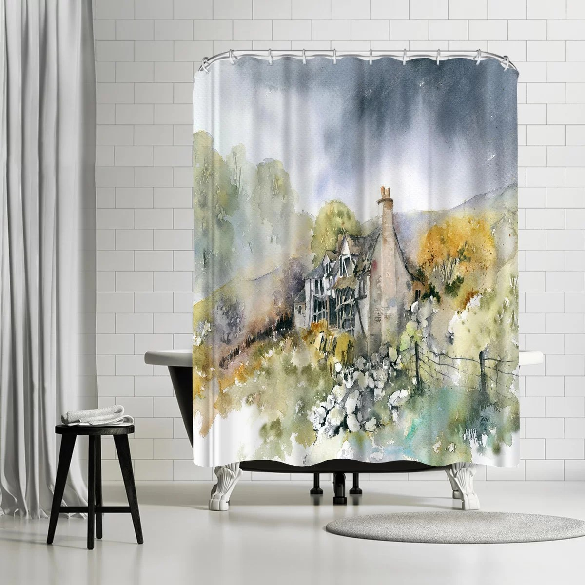 Cottage Shower Curtain Rachel Mcnaughton Ruined Cottage Single Shower Curtain