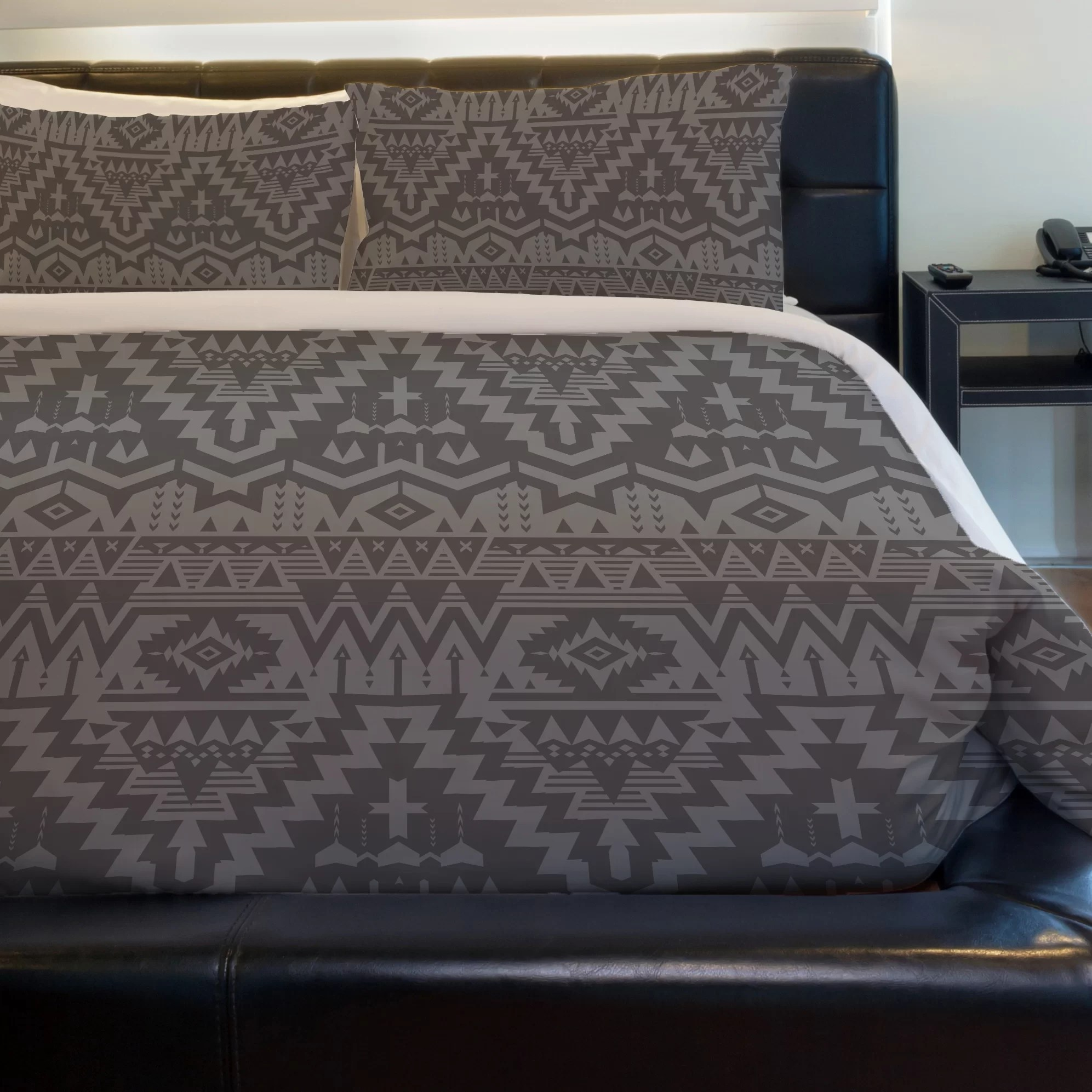 One Bella Casa Tribal Zigzags Lightweight Duvet Cover Wayfair