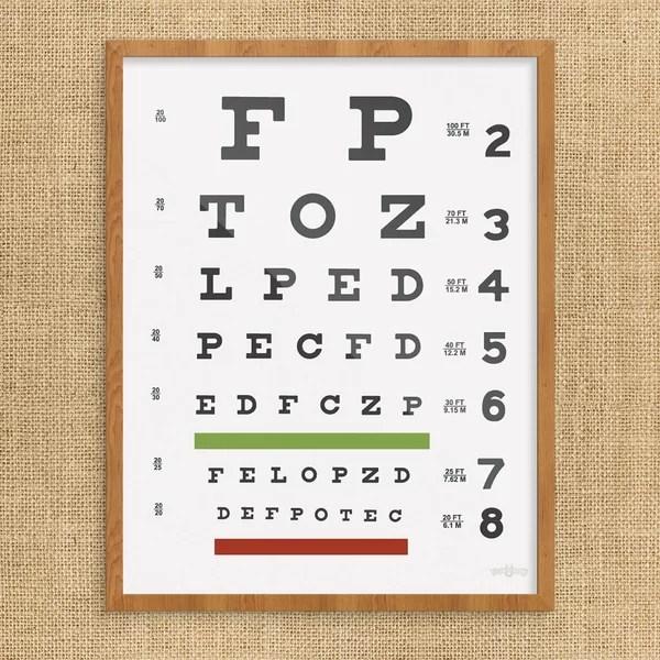 Eye Chart Art Wayfair