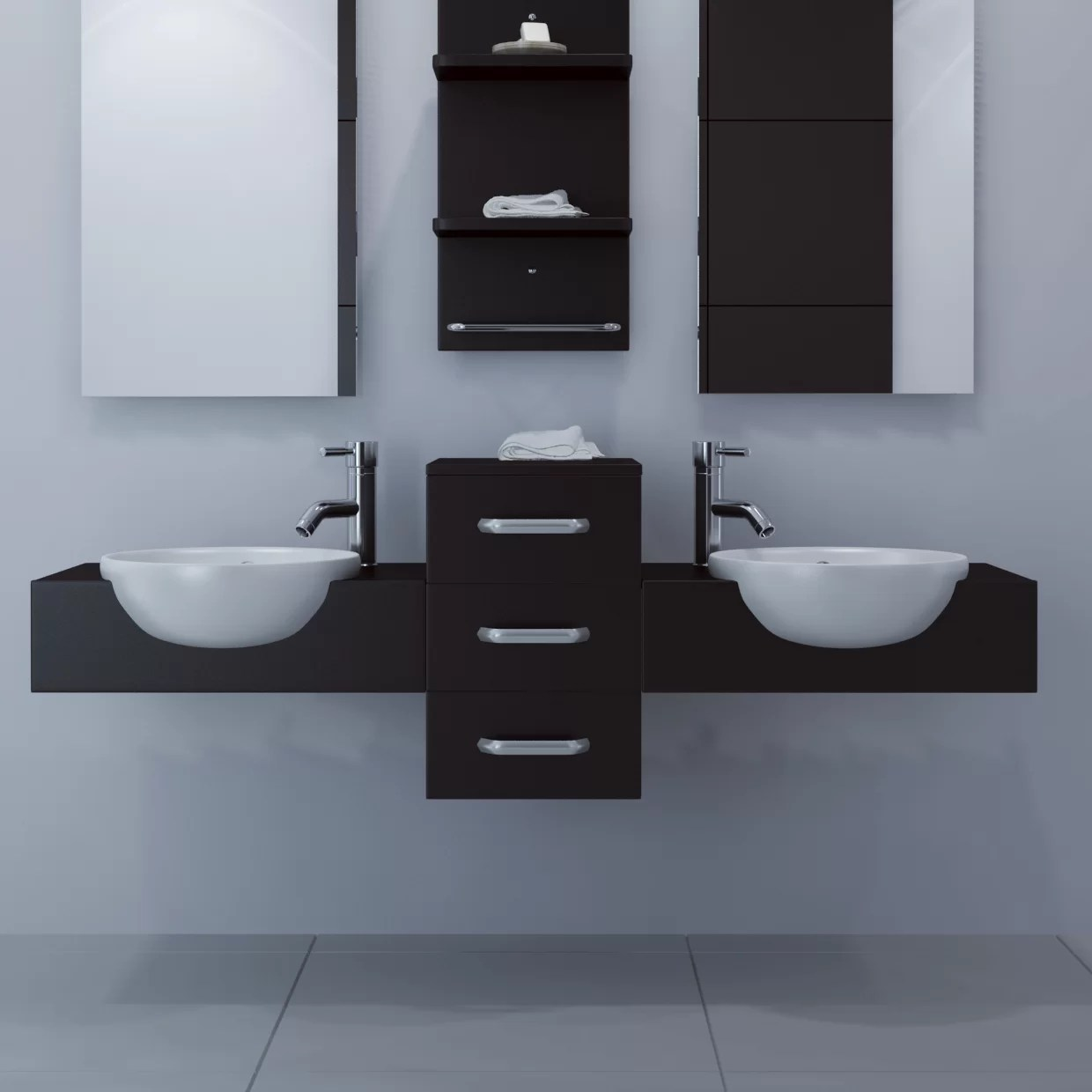 Wall Mount Double Vanity Modus 59