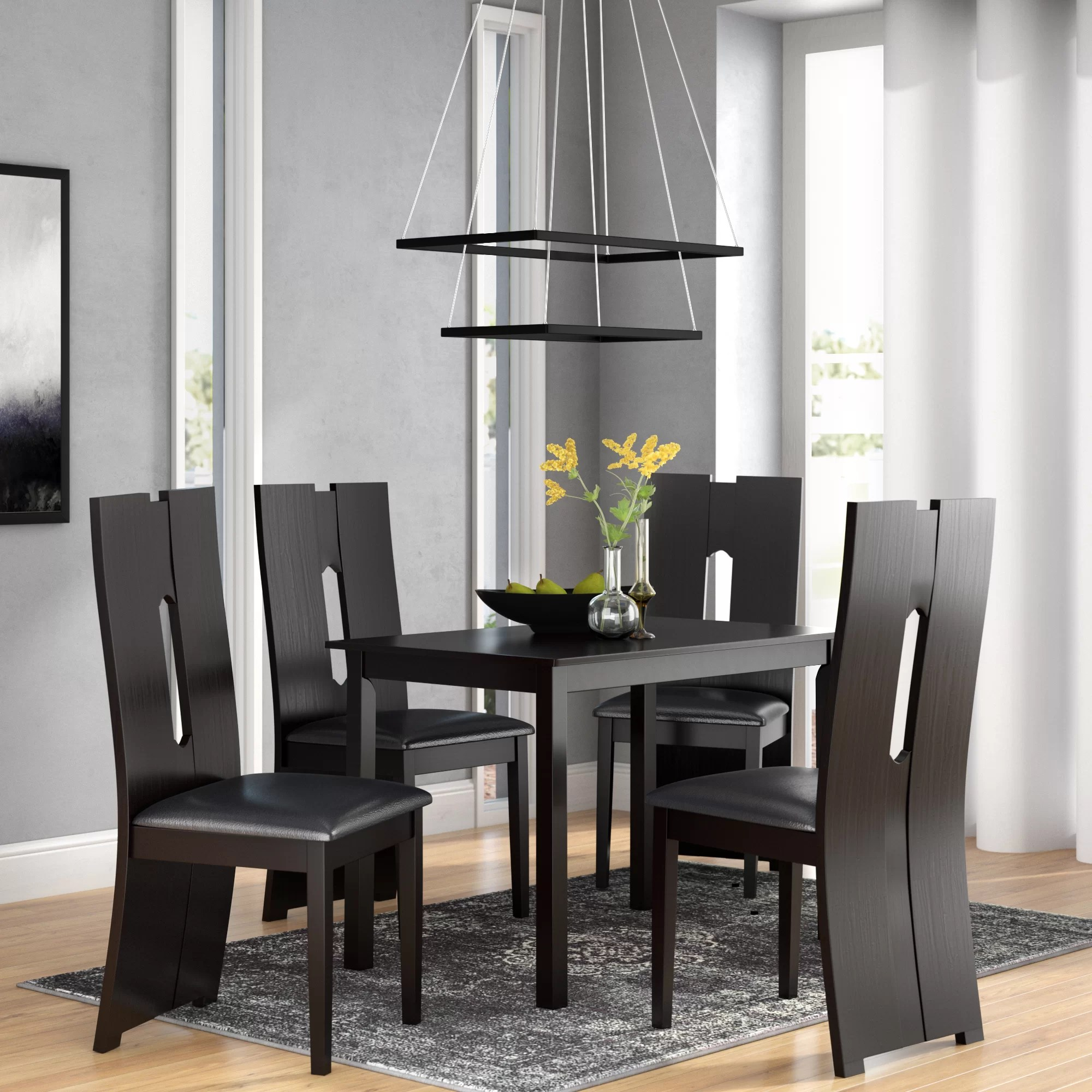 Modern Dining Set Onsted Modern And Contemporary 5 Piece Breakfast Nook Dining Set