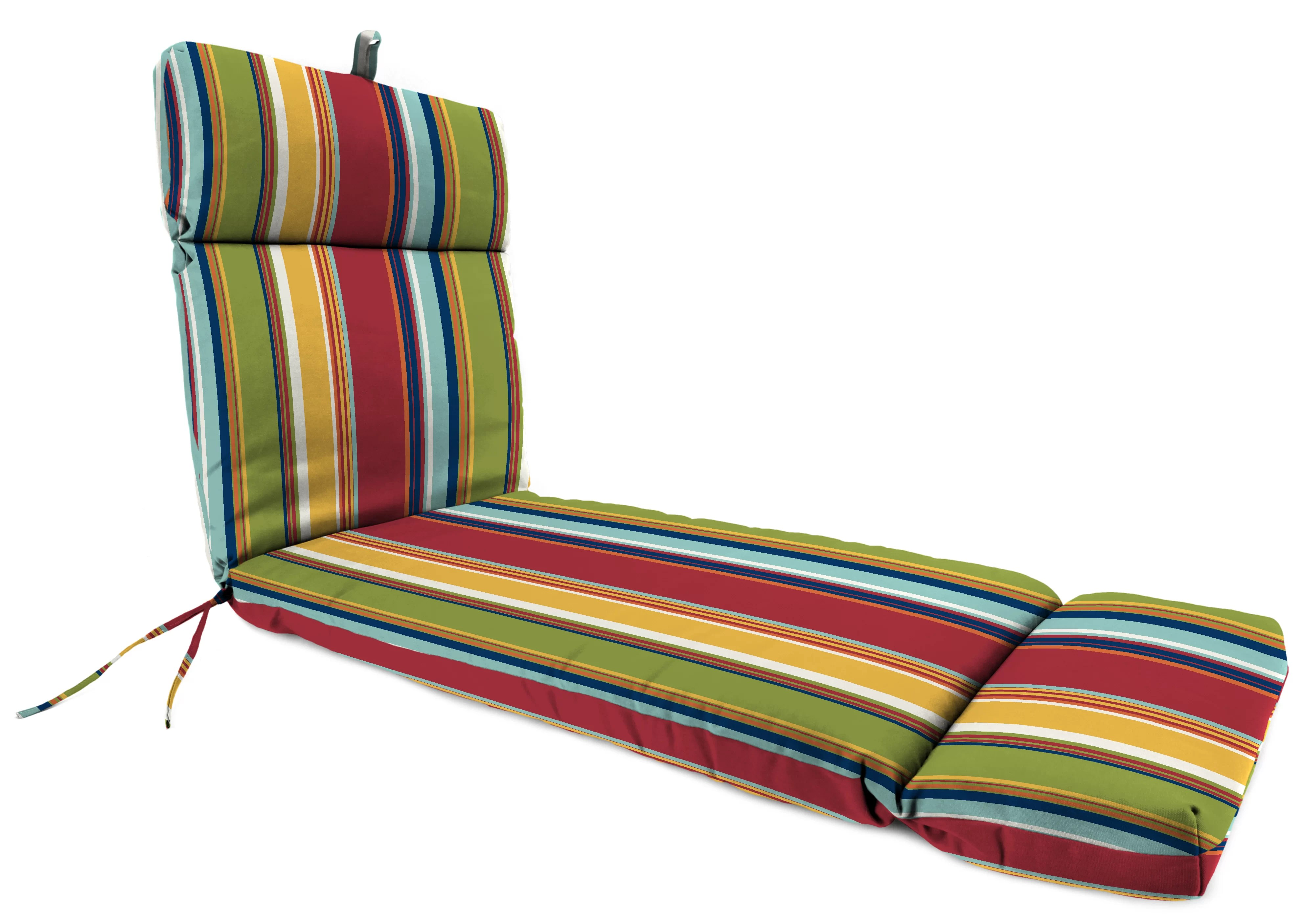 Alcott Hill French Edge Indoor Outdoor Chaise Lounge Cushion Reviews Wayfair